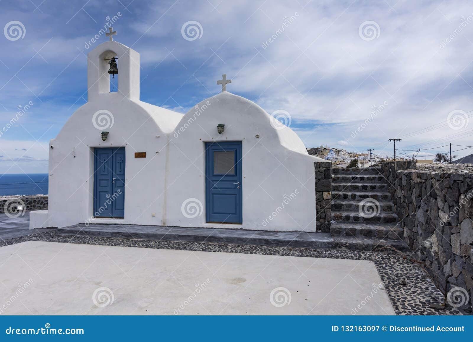典型教会希腊希腊ia海岛的santorini