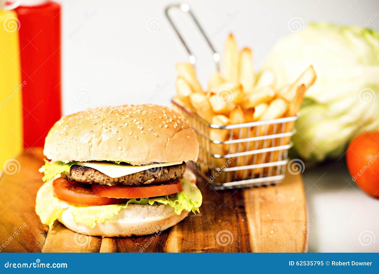经典汉堡包用乳酪
