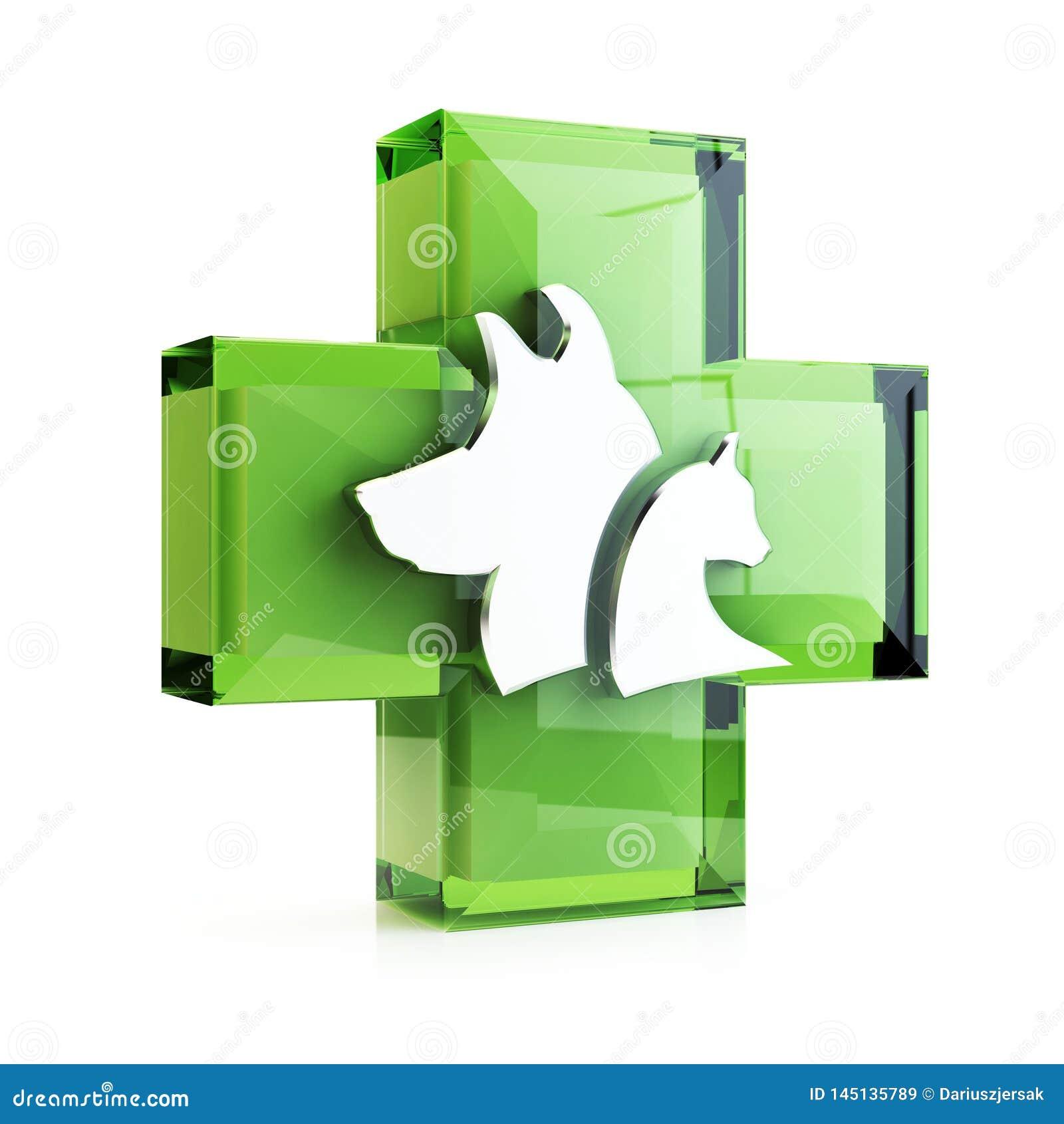 兽医十字架,3D例证