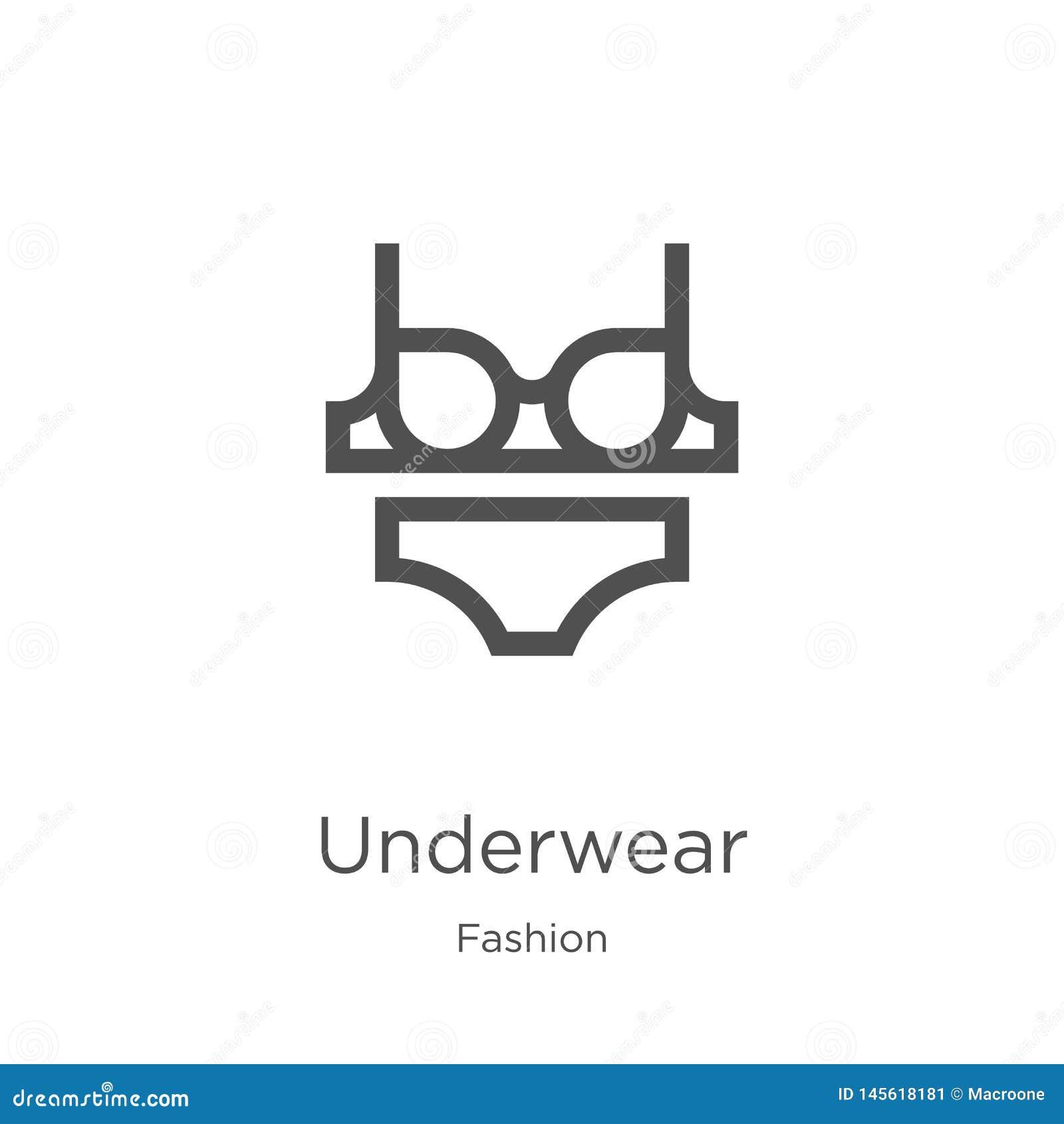内衣从时尚汇集的象传染媒介 稀薄的线内衣概述象传染媒介例证 概述,稀薄的线内衣