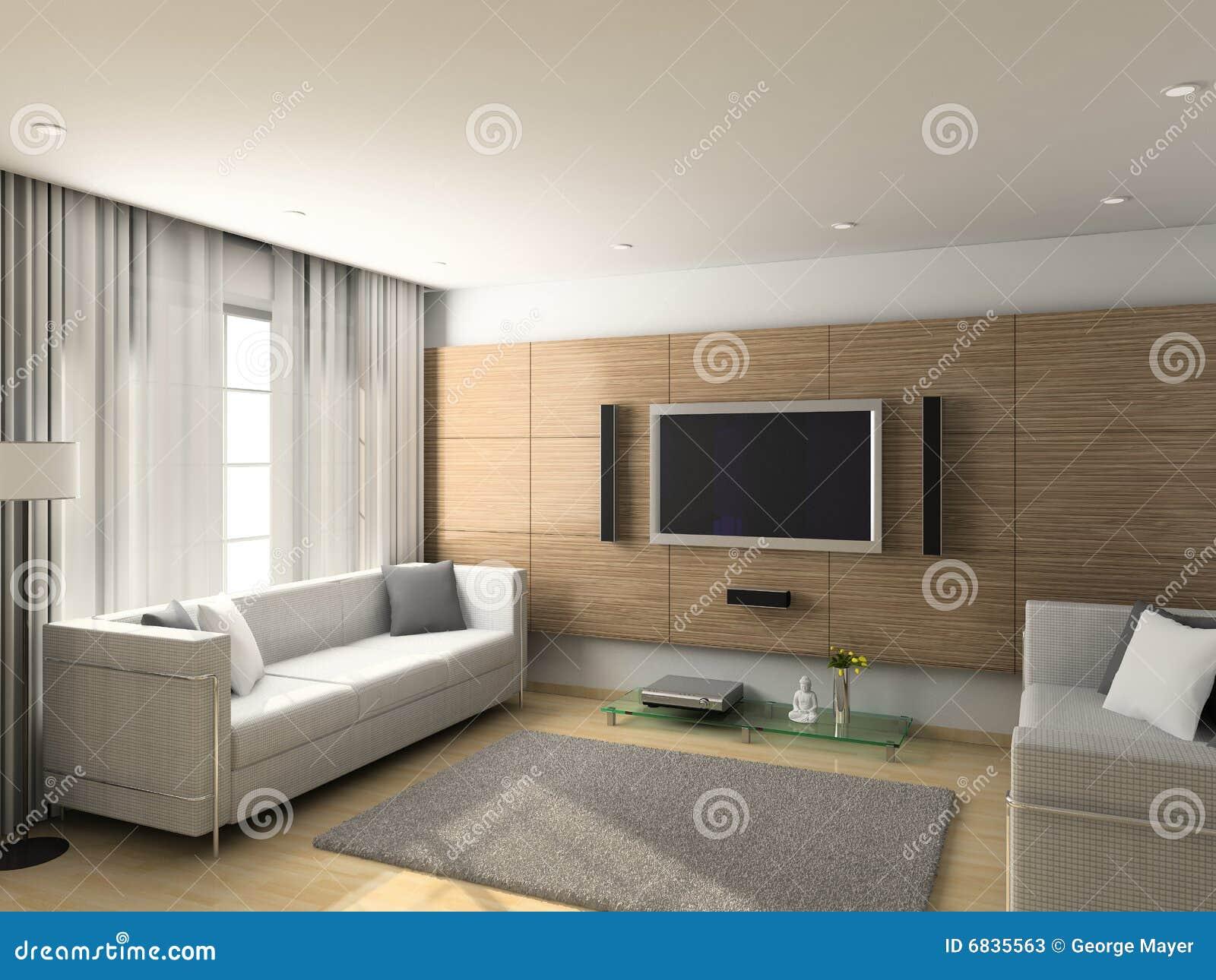 内部居住的现代空间