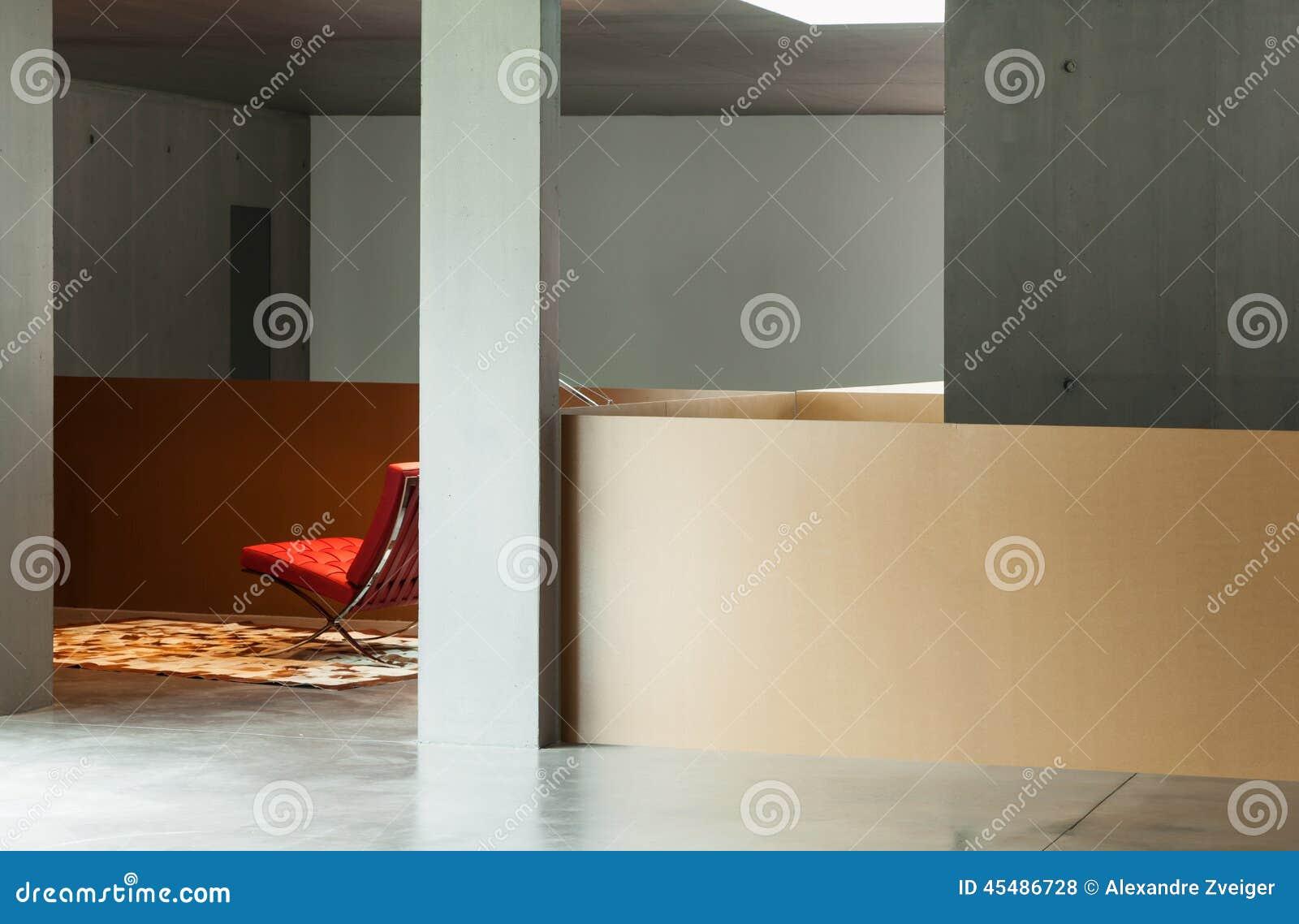 内部房子,混凝土墙