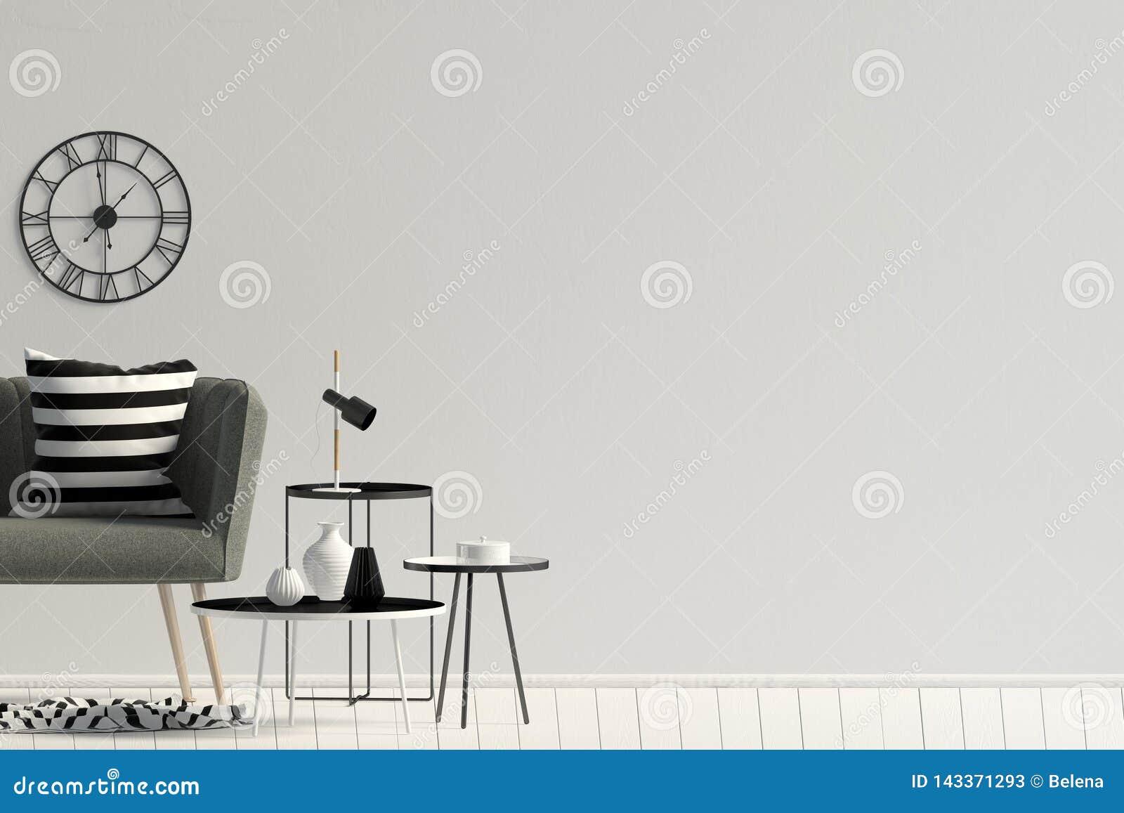 内部现代沙发 墙壁嘲笑