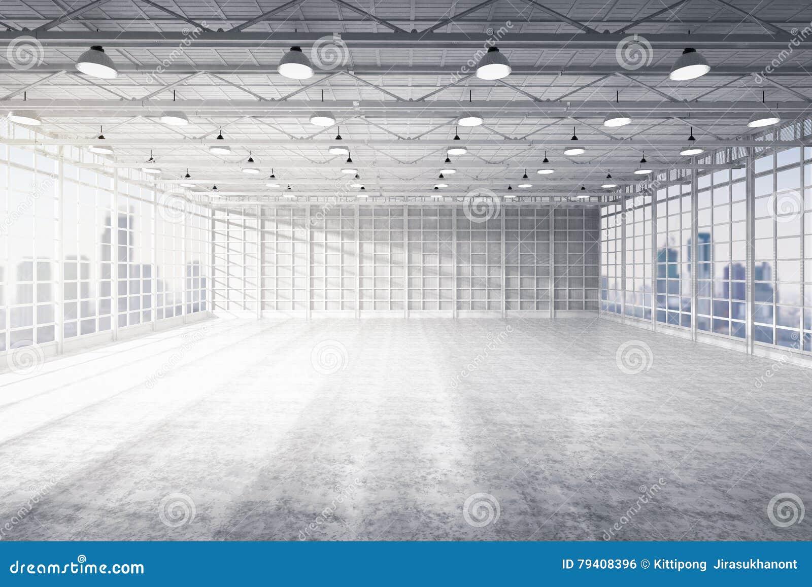 内部空的工厂