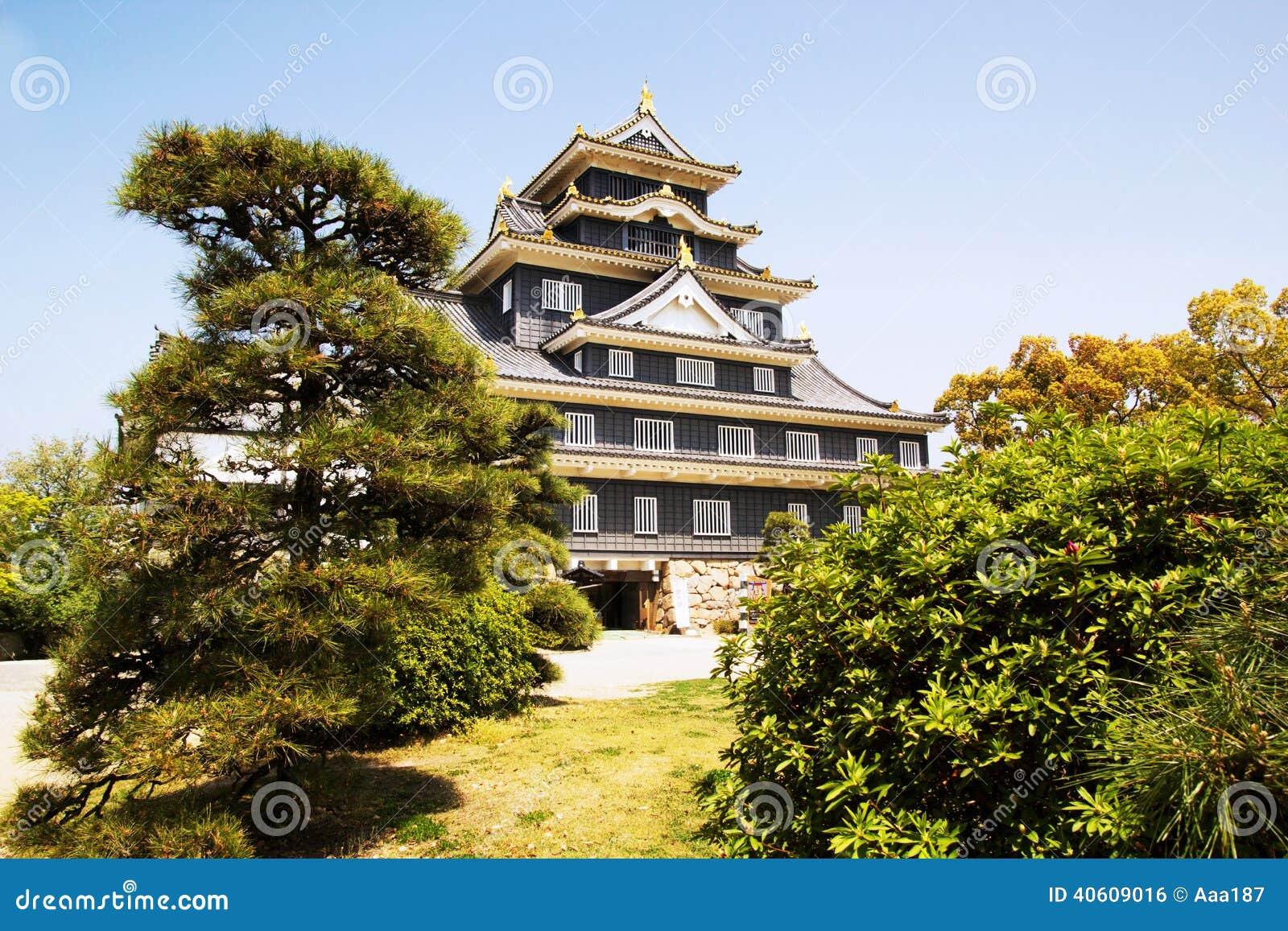 冈山城堡在日本