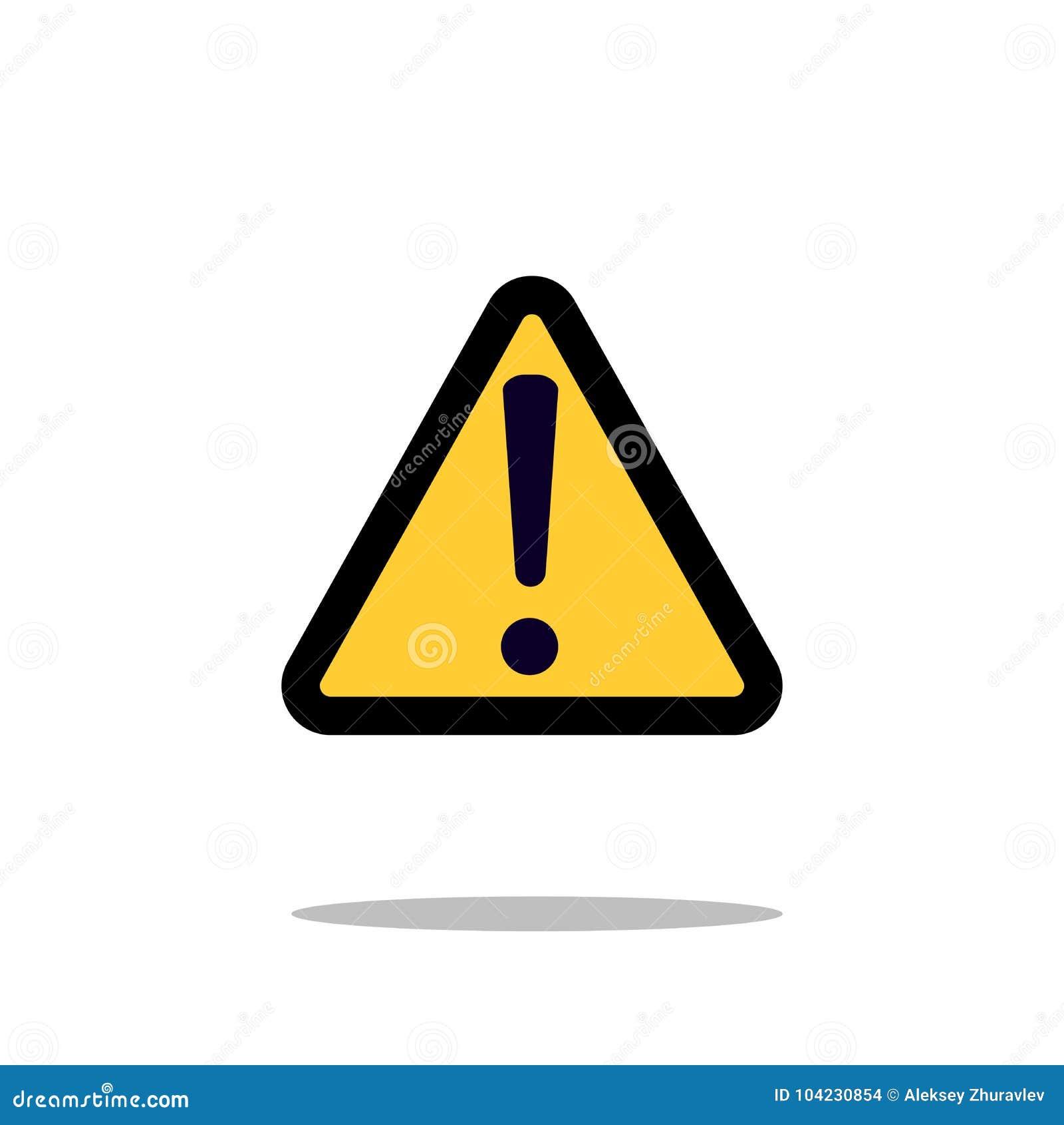 冒险与惊叹号标志象传染媒介例证的警告关注标志