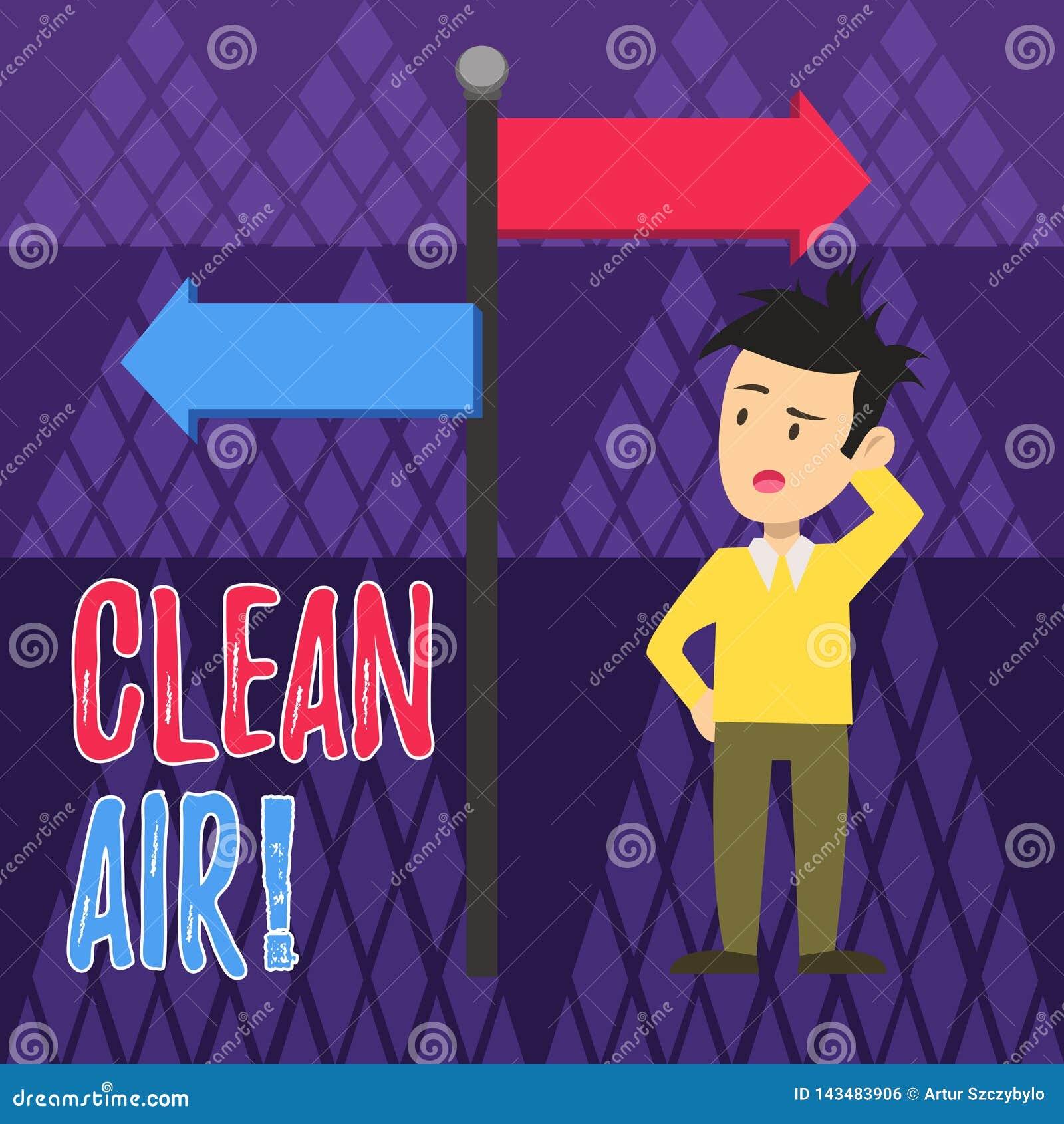 写新鲜空气的手写文本 禁止在某些区域的概念意思烧生产烟人的任何燃料