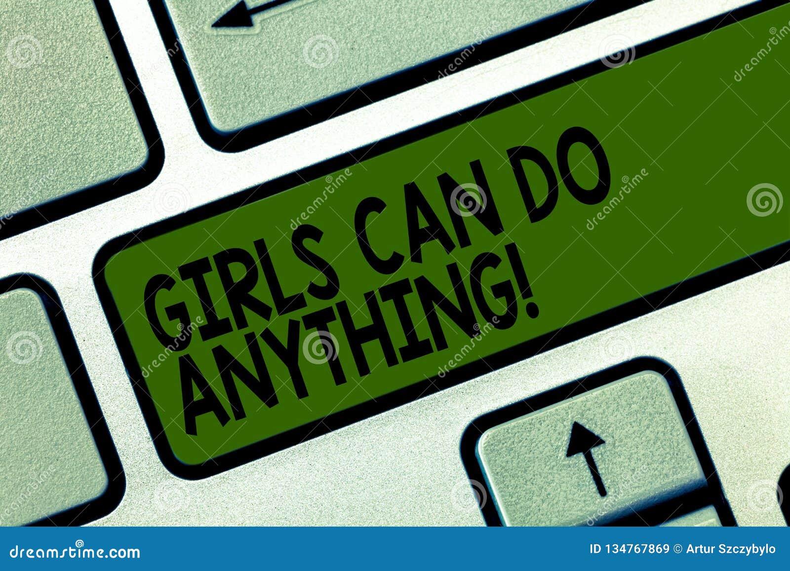 写显示女孩的笔记可能做任何东西 企业照片陈列的妇女供给女性援权领导动力