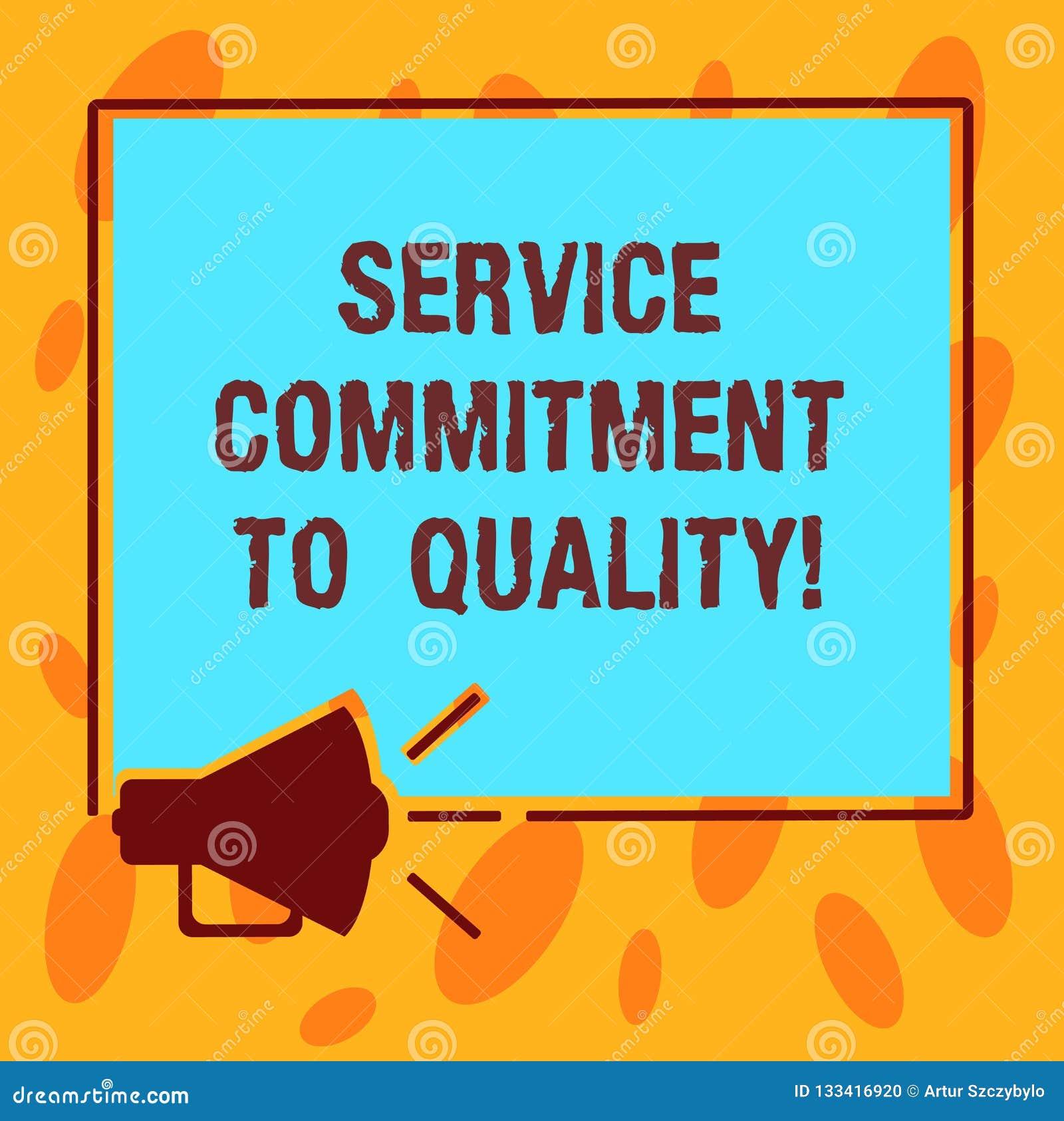 写显示服务承诺的笔记给质量 陈列优秀优质好协助的企业照片