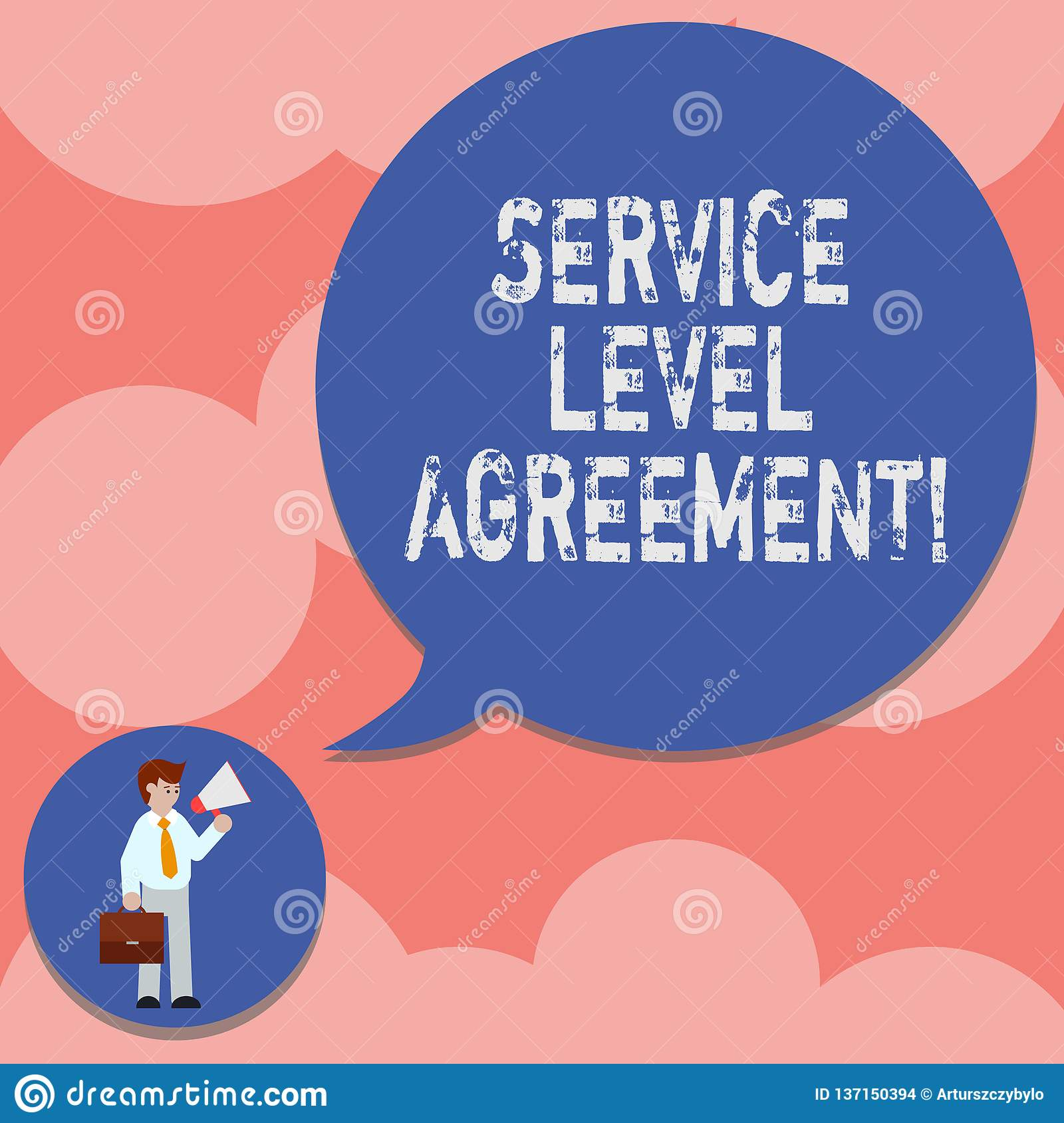 写显示服务水准协议的笔记 在提供商和a之间的企业照片陈列的承诺
