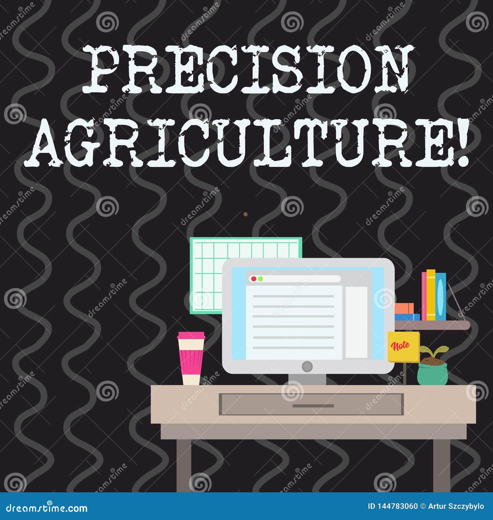 写显示精确度农业的笔记 陈列高效率的生产的企业照片现代农场经营实践