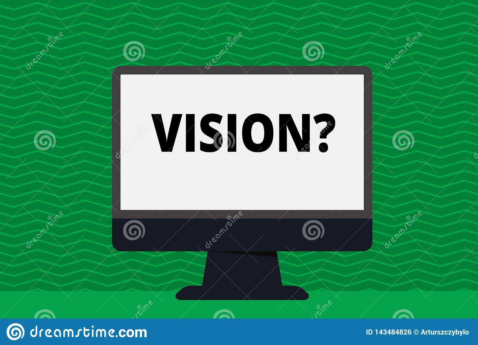 写显示Visionquestion的笔记 描述未来现实状态的企业照片陈列的公司承诺