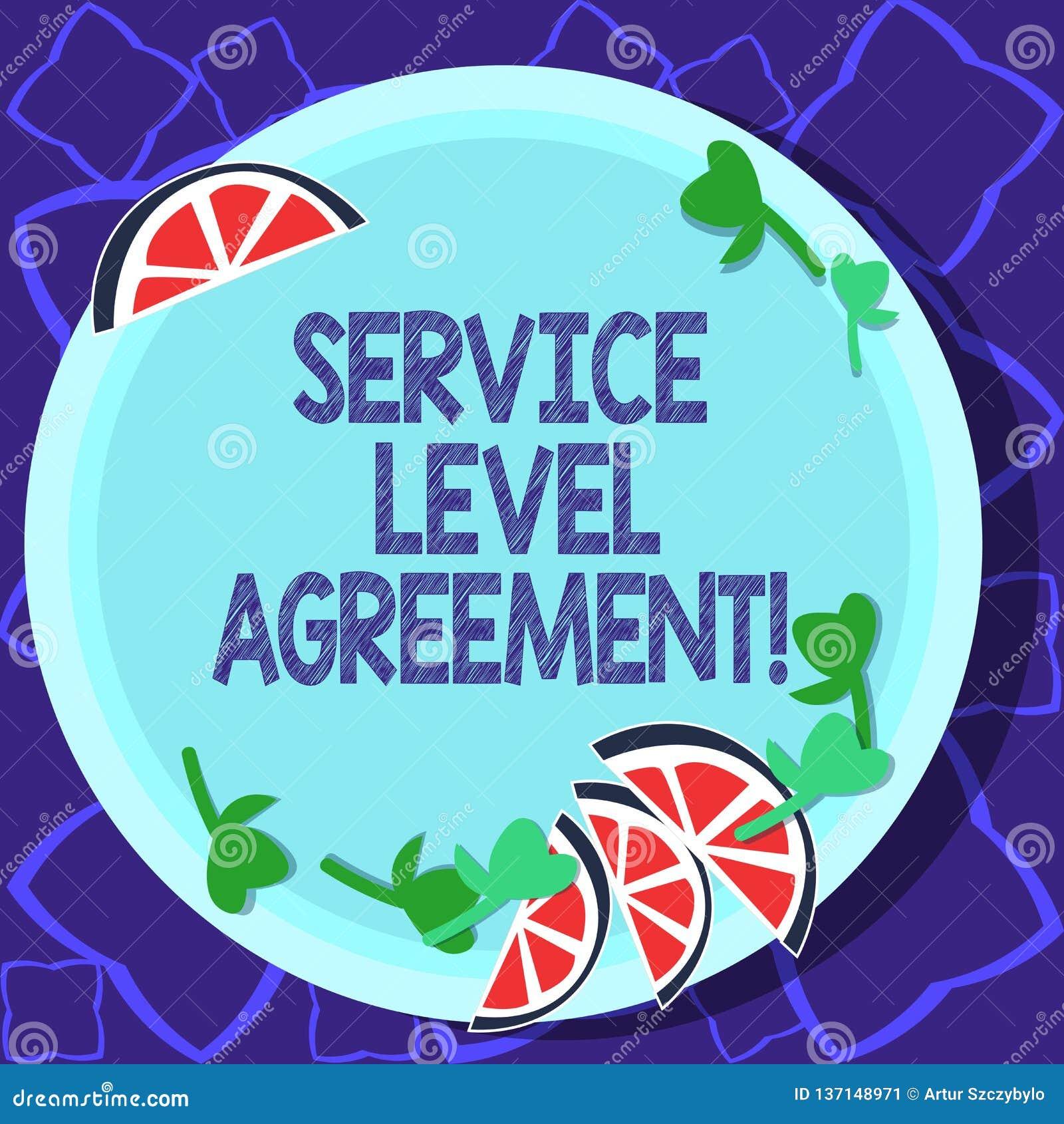 写服务水准协议的手写文本 概念在提供商和客户之间的意思承诺
