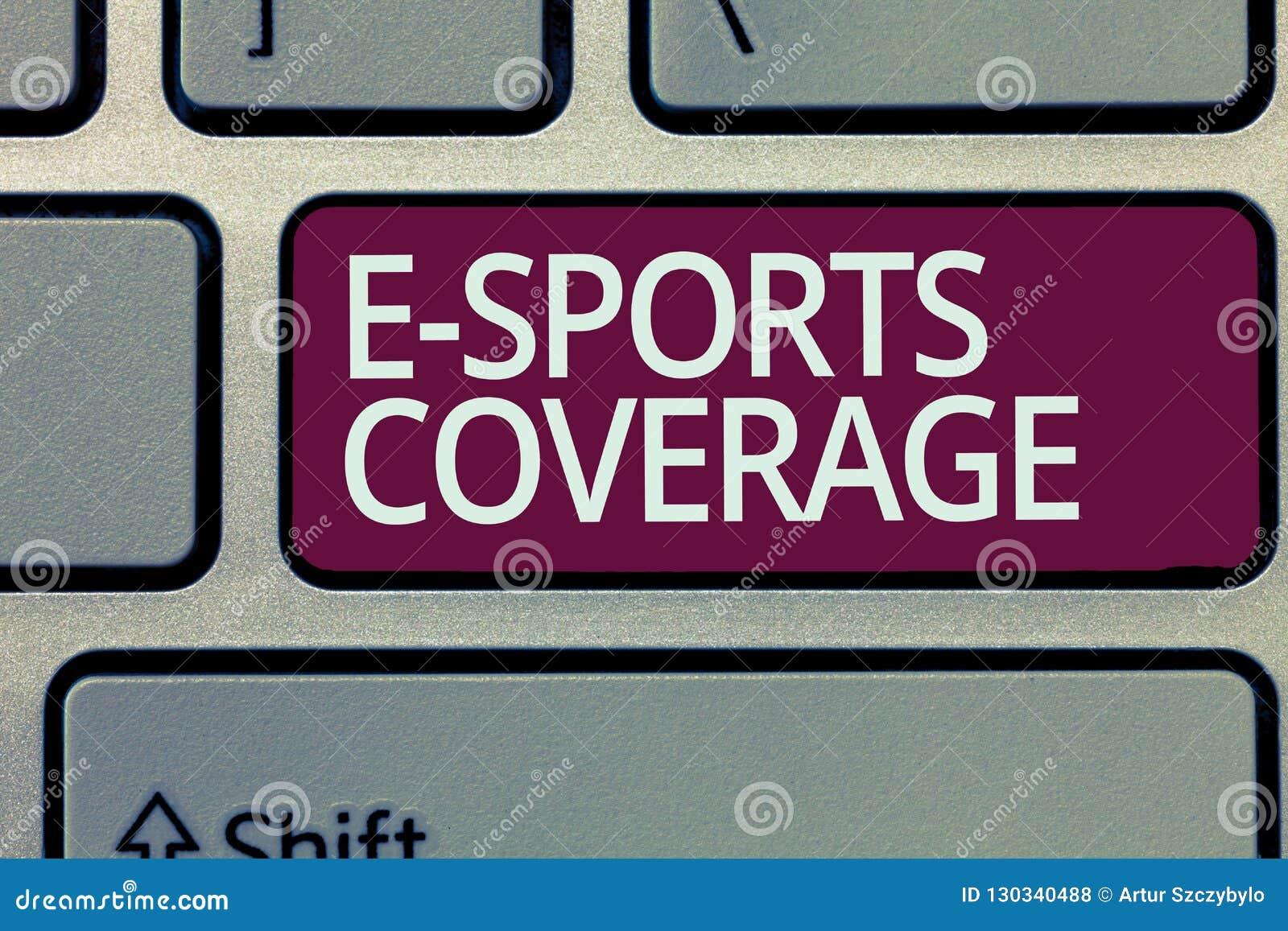 写E体育覆盖面的手写文本 概念意思报告活在最新的体育竞赛广播