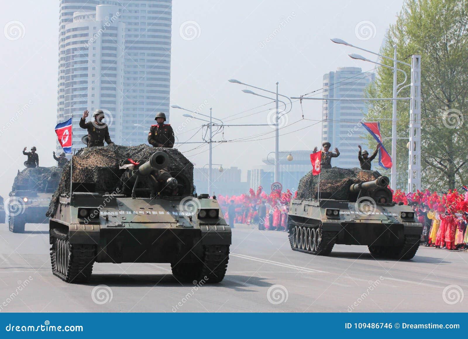 军事游行在北朝鲜