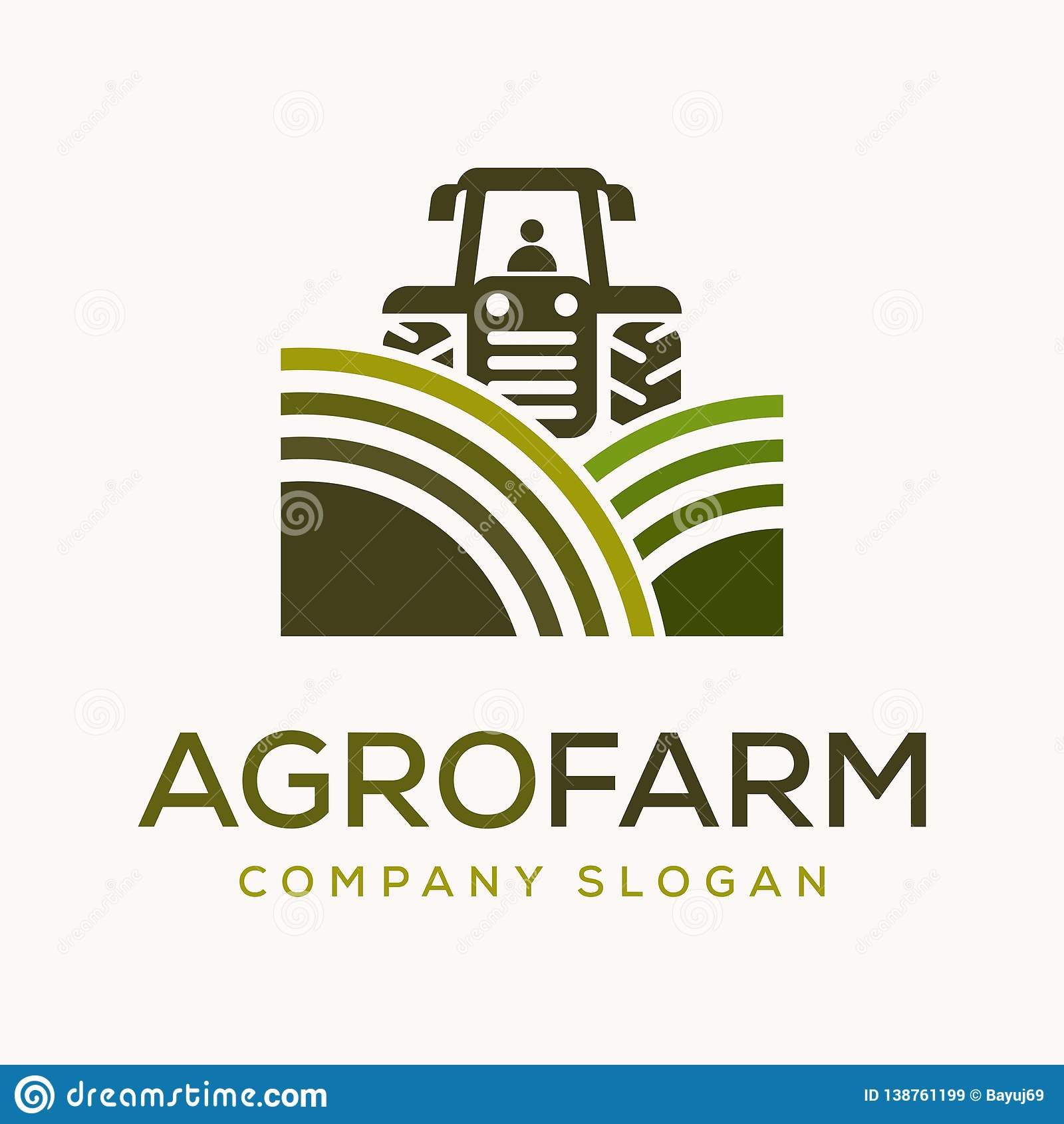 农业的农厂商标传染媒介设计模板