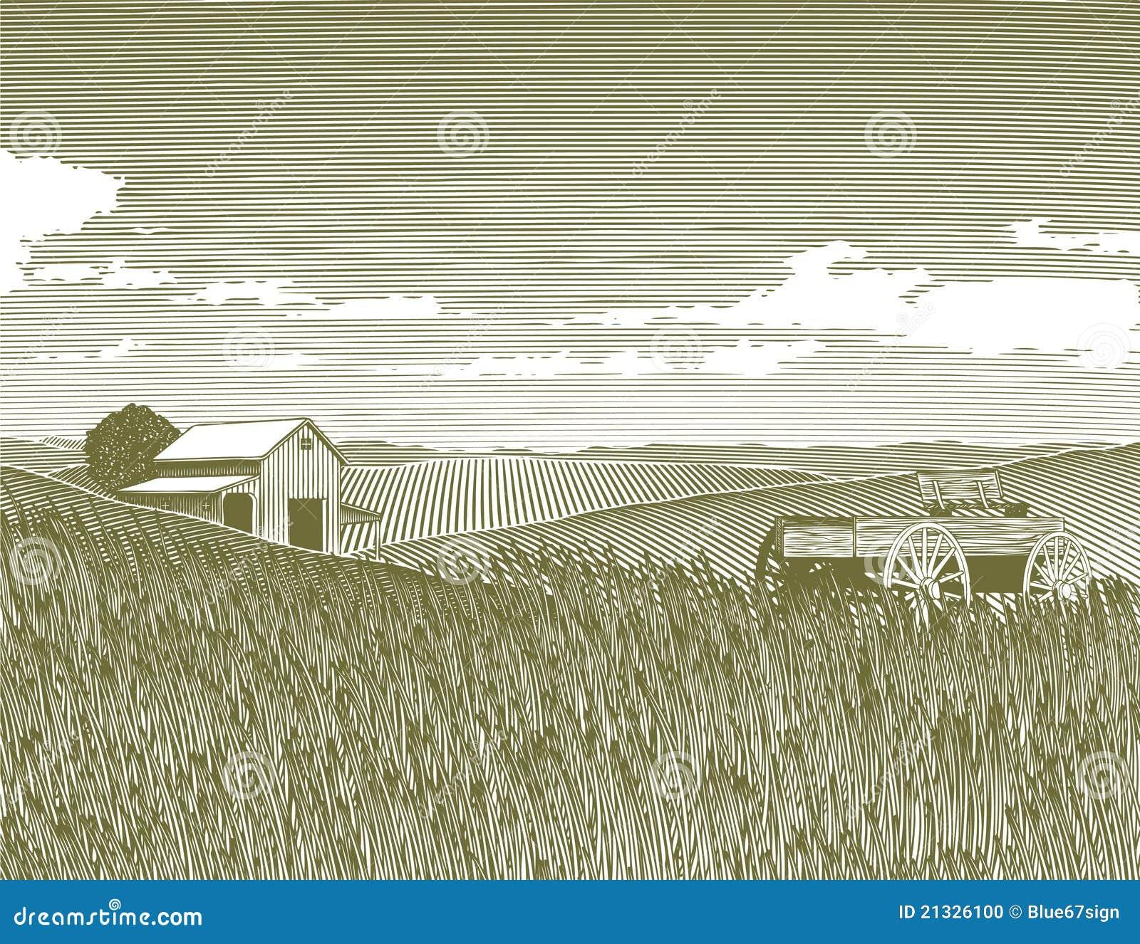 农厂葡萄酒木刻