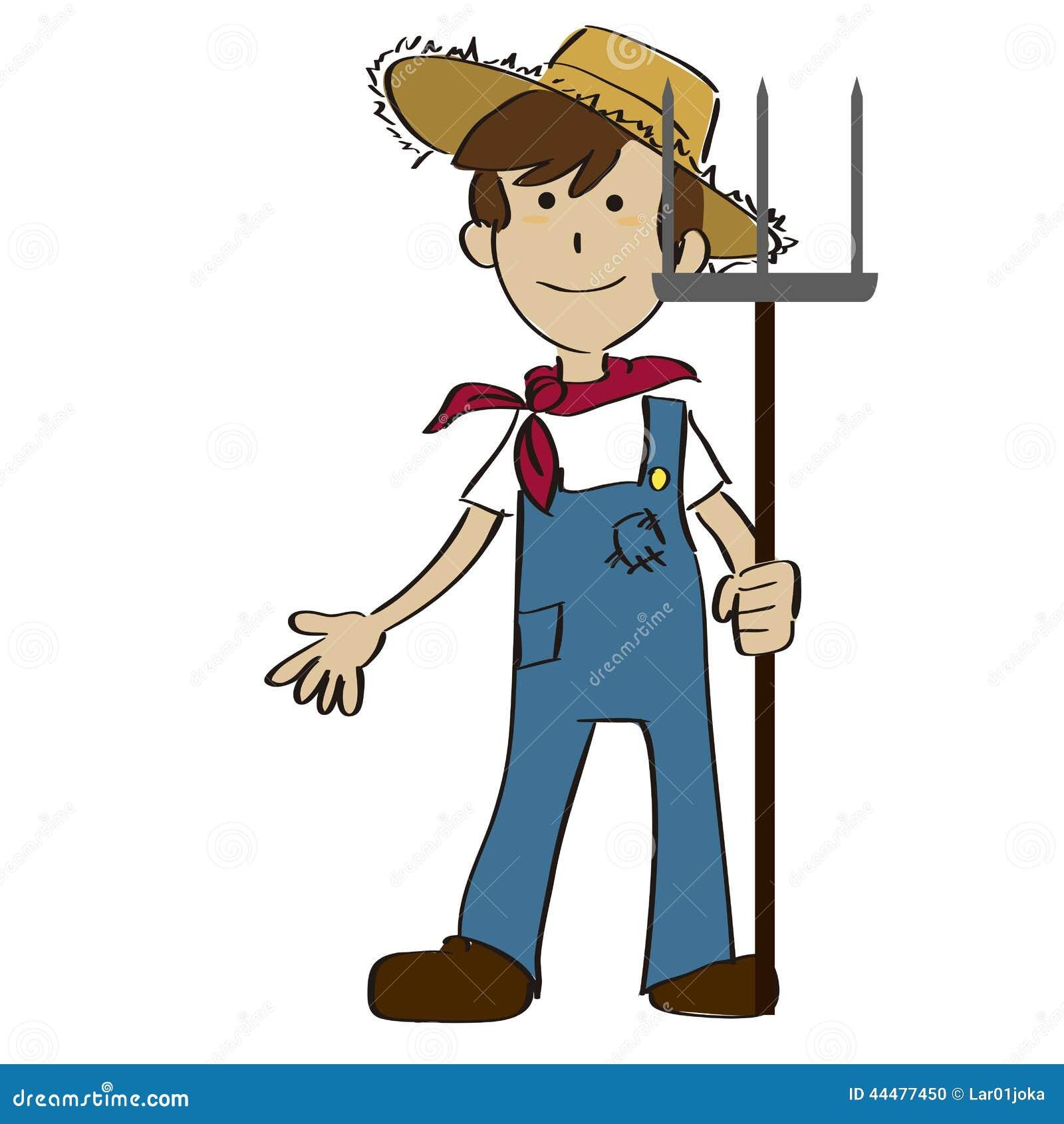 白色农夫网站_白色背景的一位愉快的农夫.