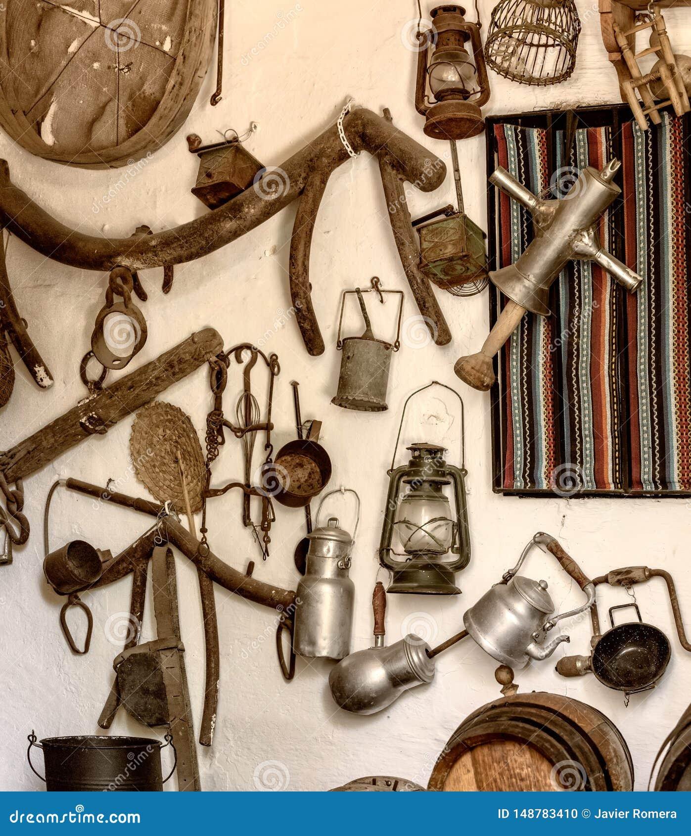 农活回来感觉和农舍老工具和对象