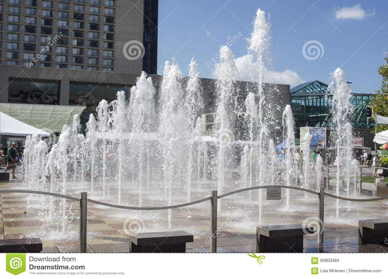 冠中心方形的喷泉