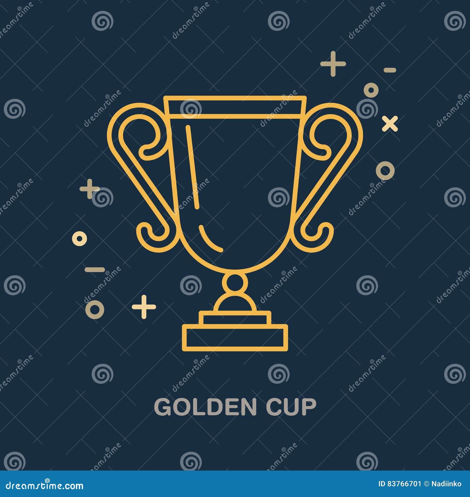 冠军战利品线性象 奖杯商标,冠军标志 优胜者奖,领导例证