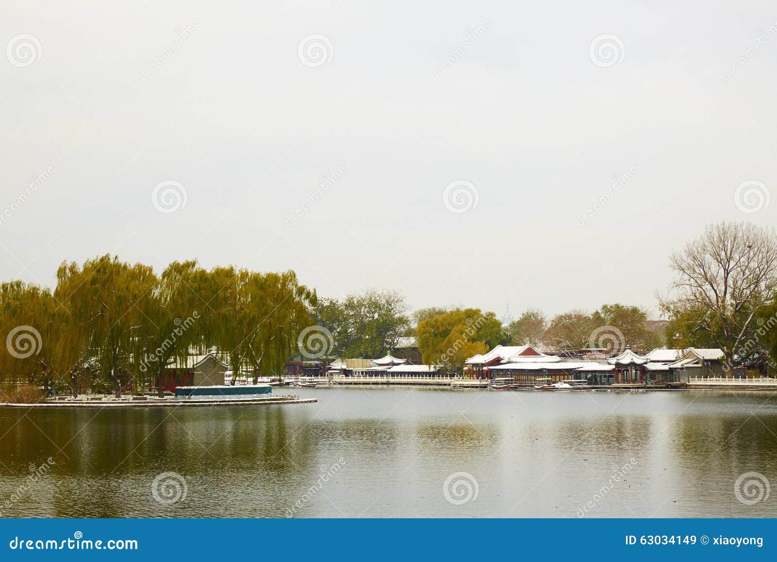 冬天后海公园,北京