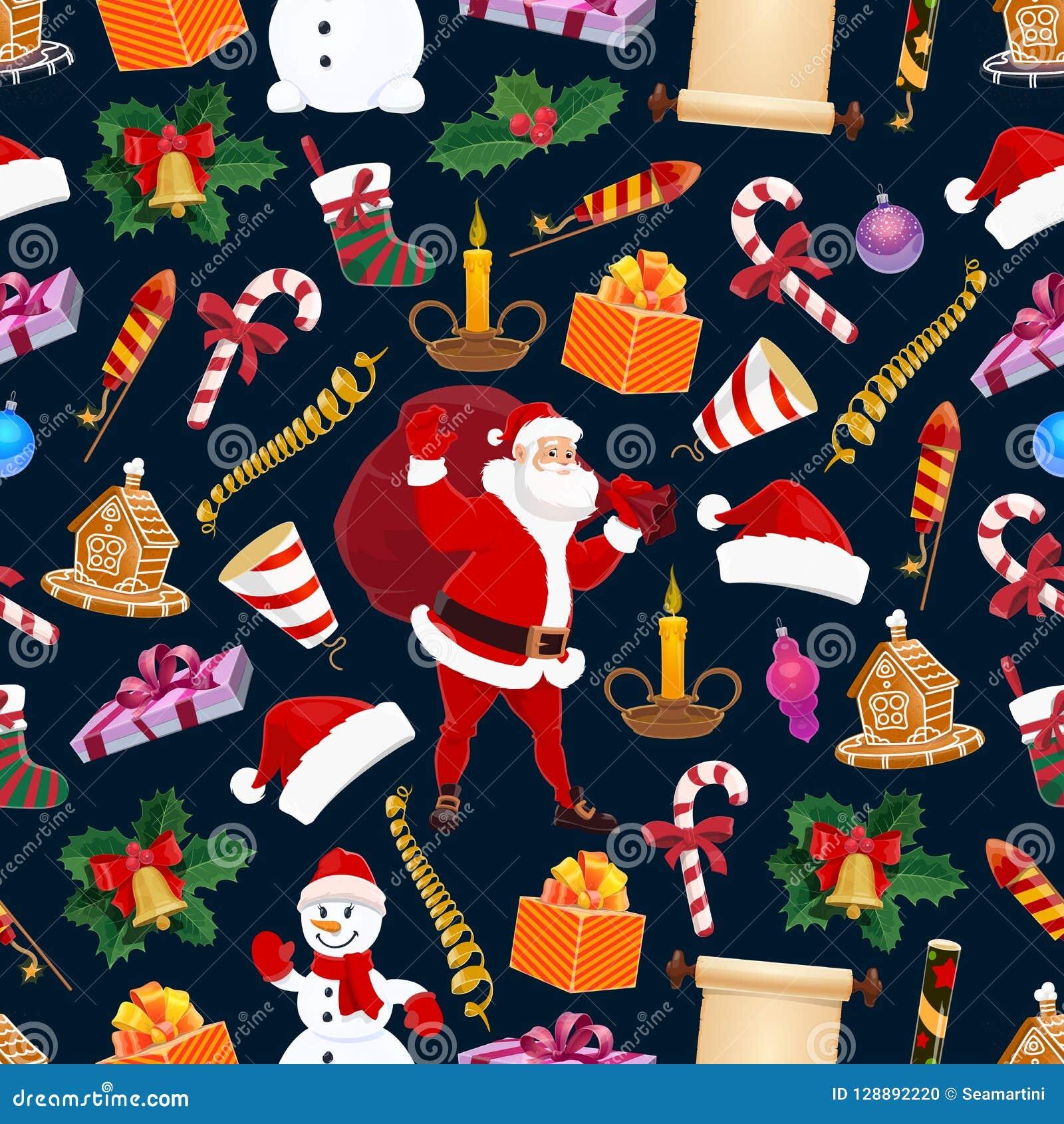 冬天圣诞节假日,导航无缝的样式