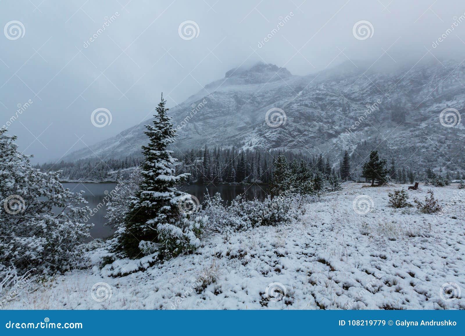 冬天在冰川公园