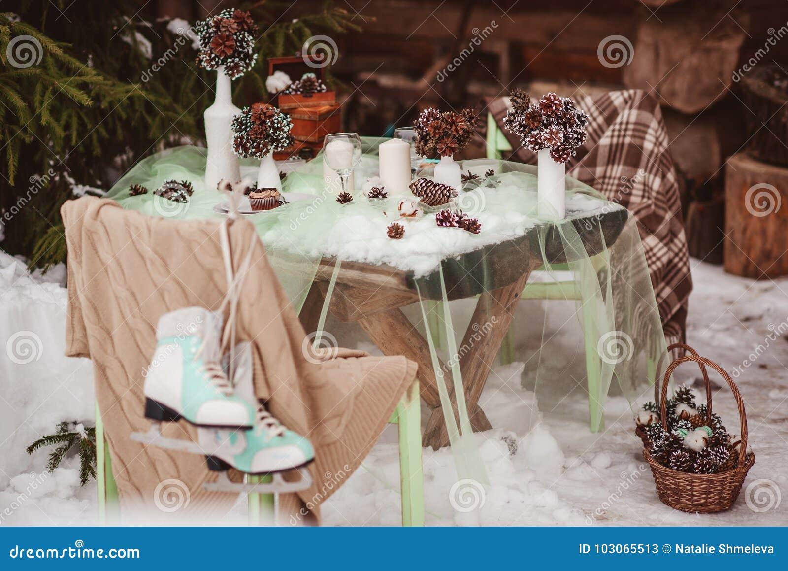 冬天婚礼桌