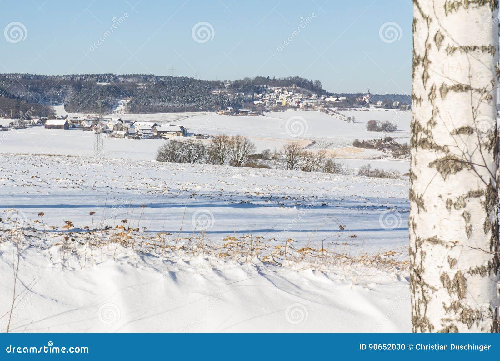 冬天横向在巴伐利亚