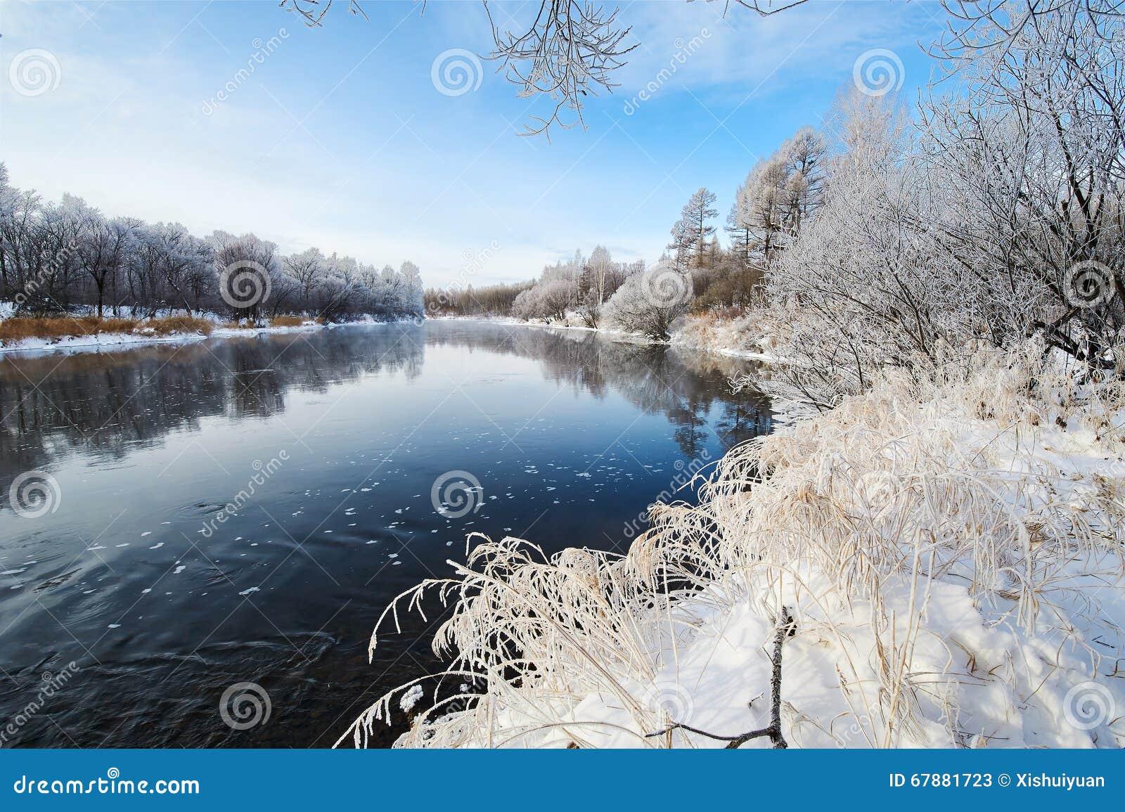 冬天河风景