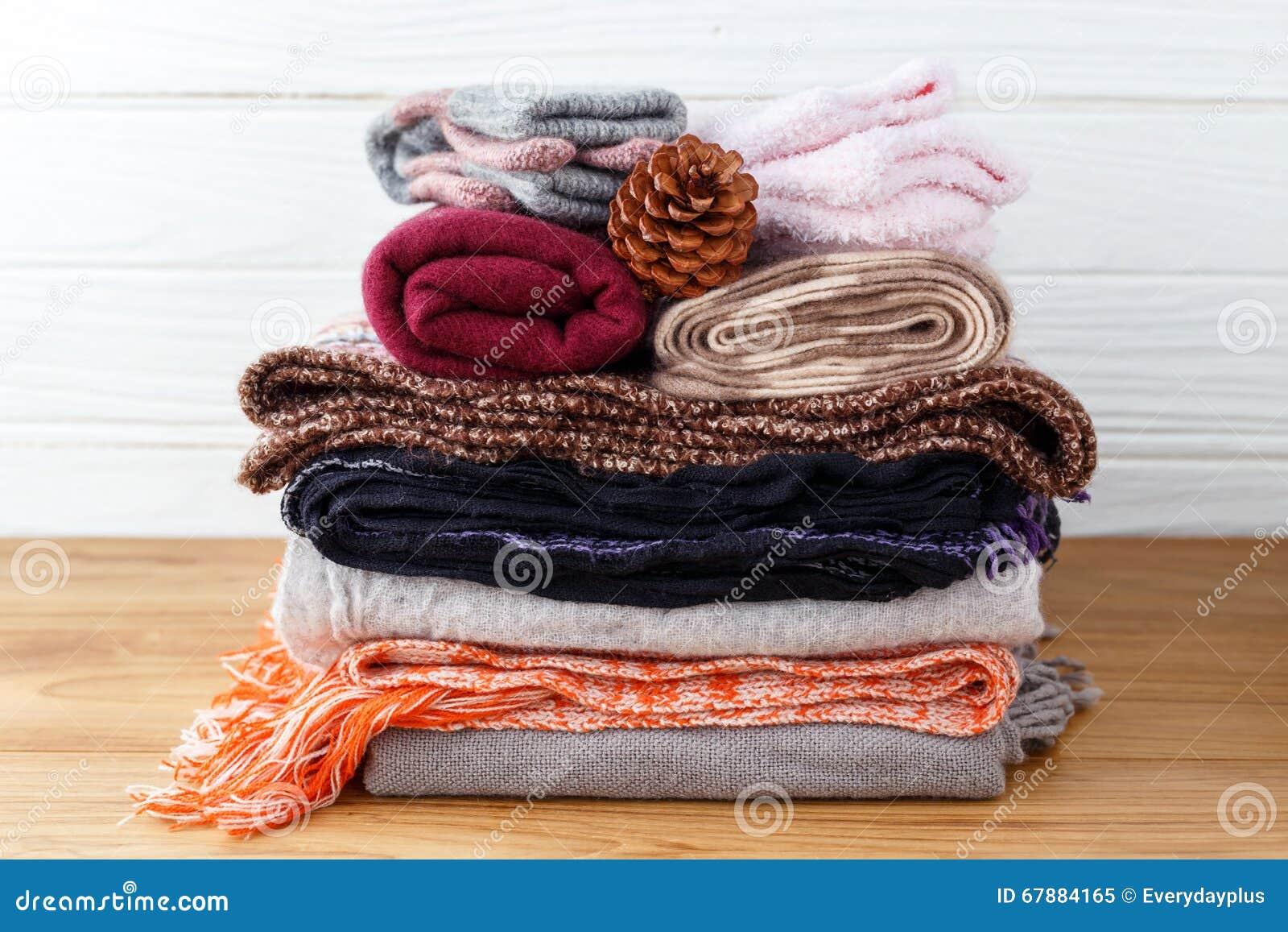 冬天衣物堆