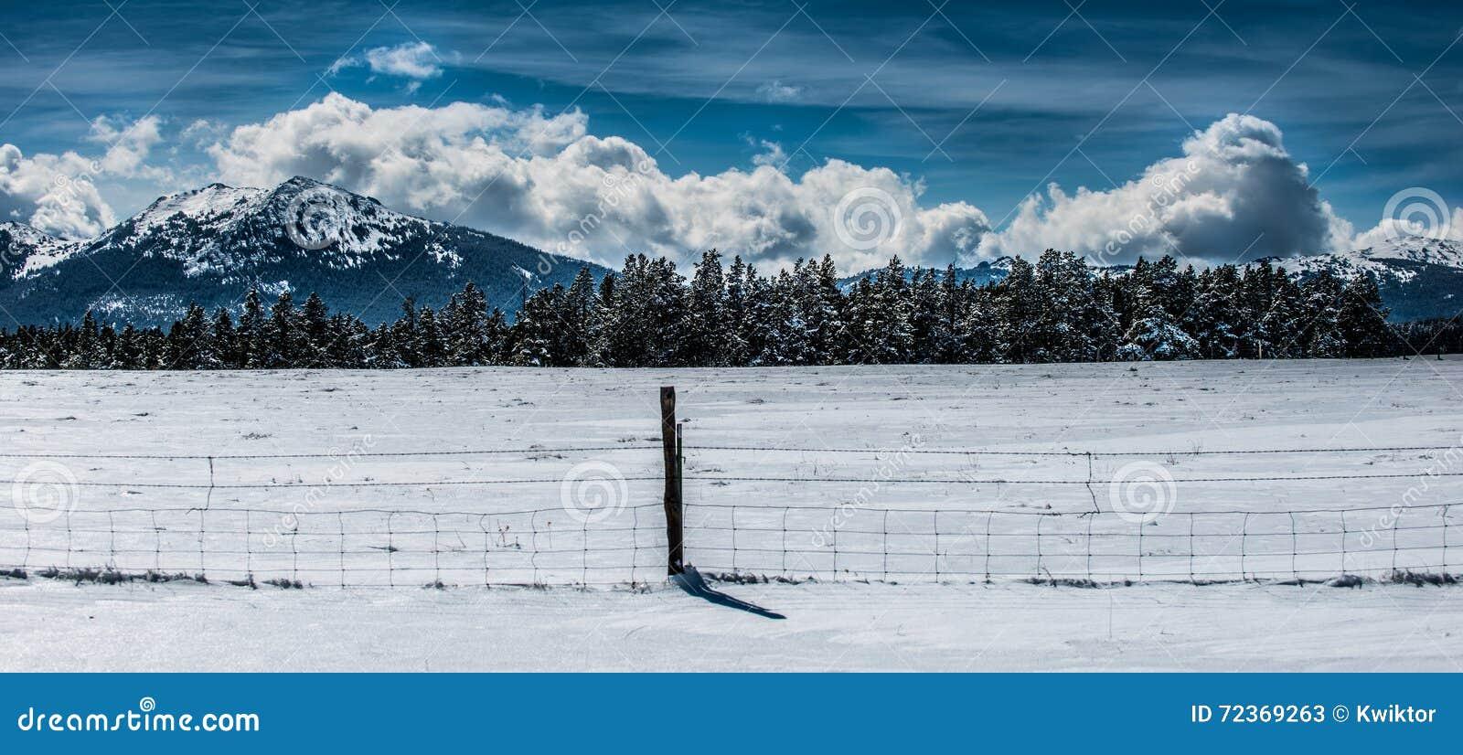 冬天风景怀俄明Hazelton峰顶