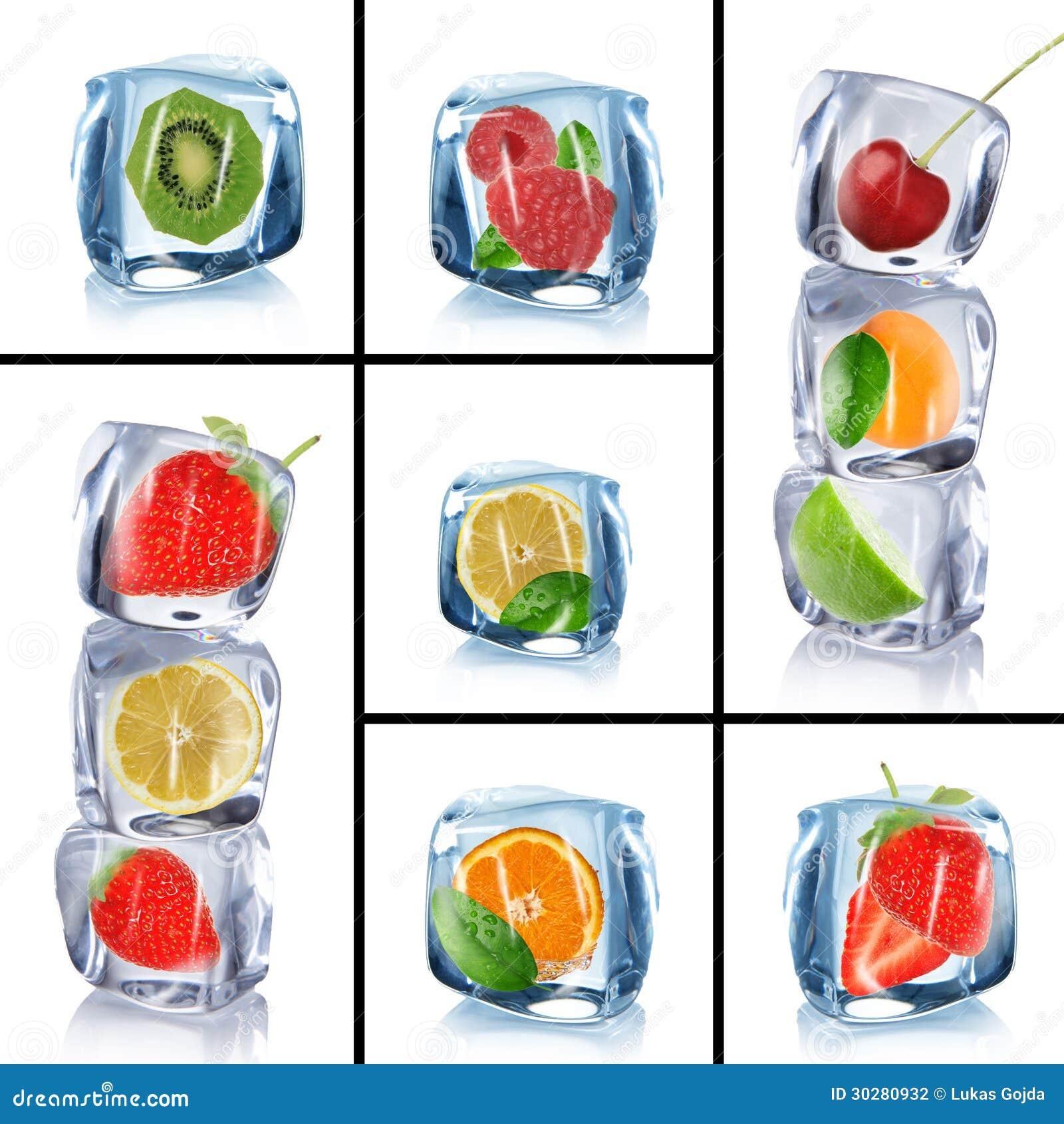 冰块用冷冻果子