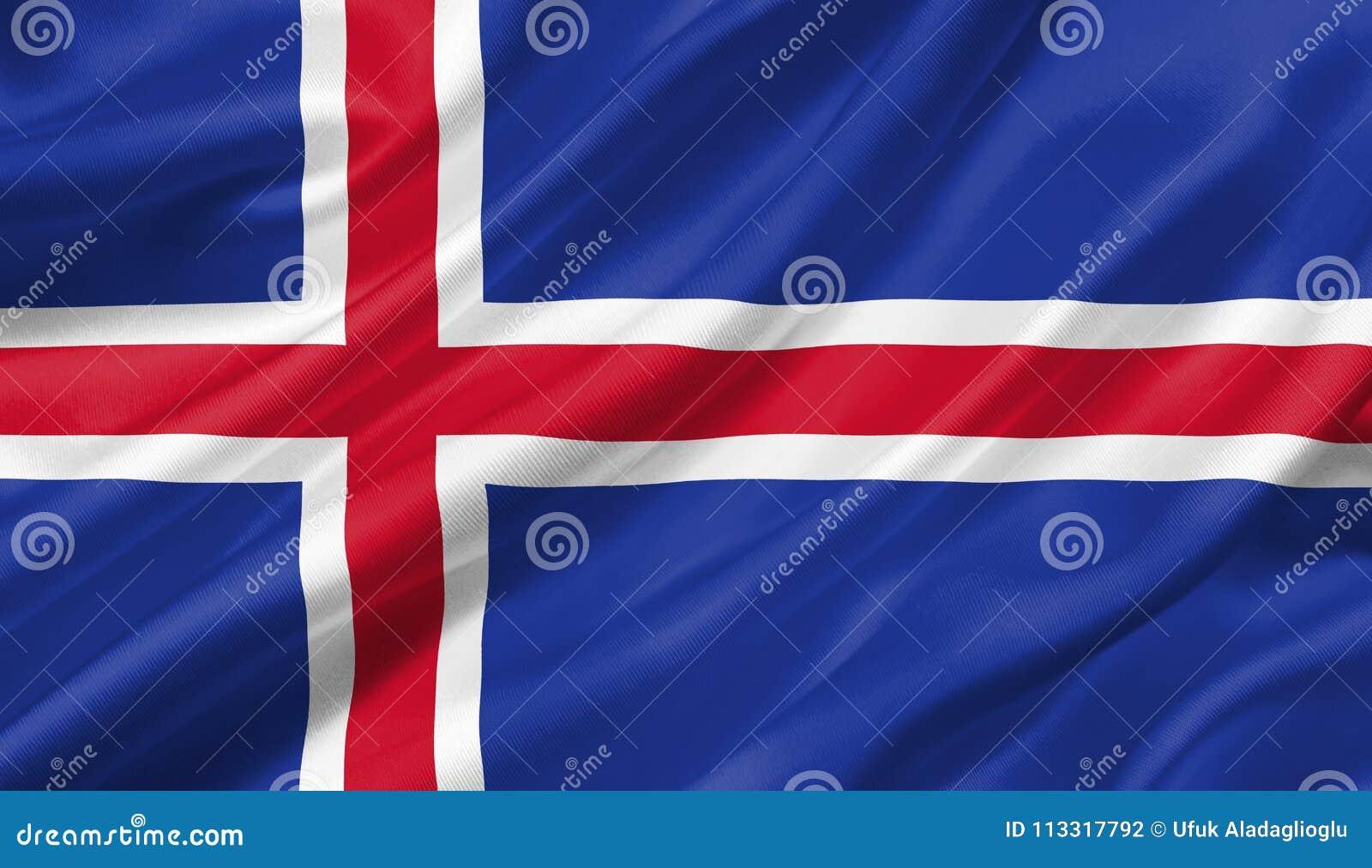 冰岛沙文主义情绪与风, 3D例证