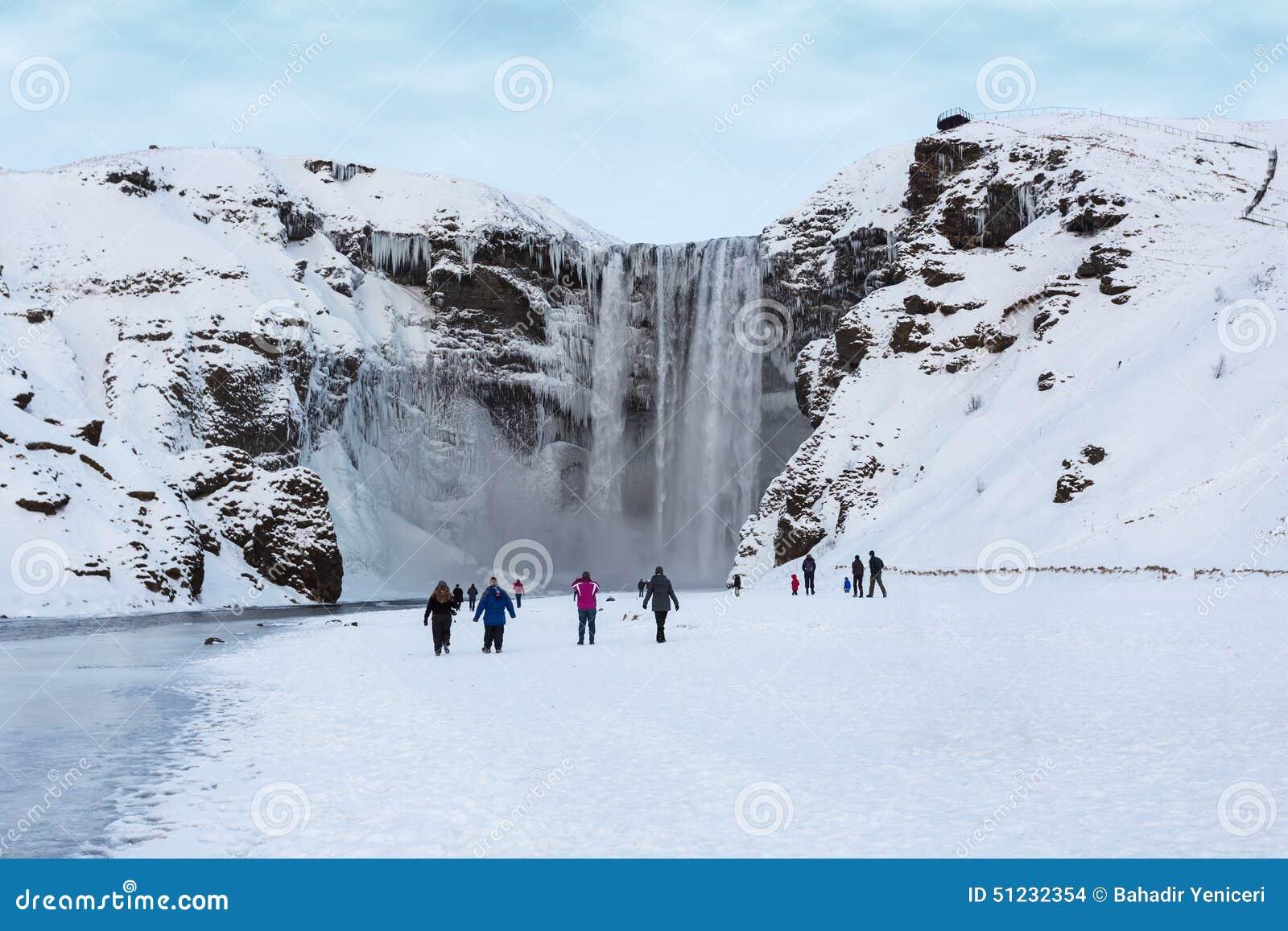 冰岛skogafoss skogar南部的瀑布