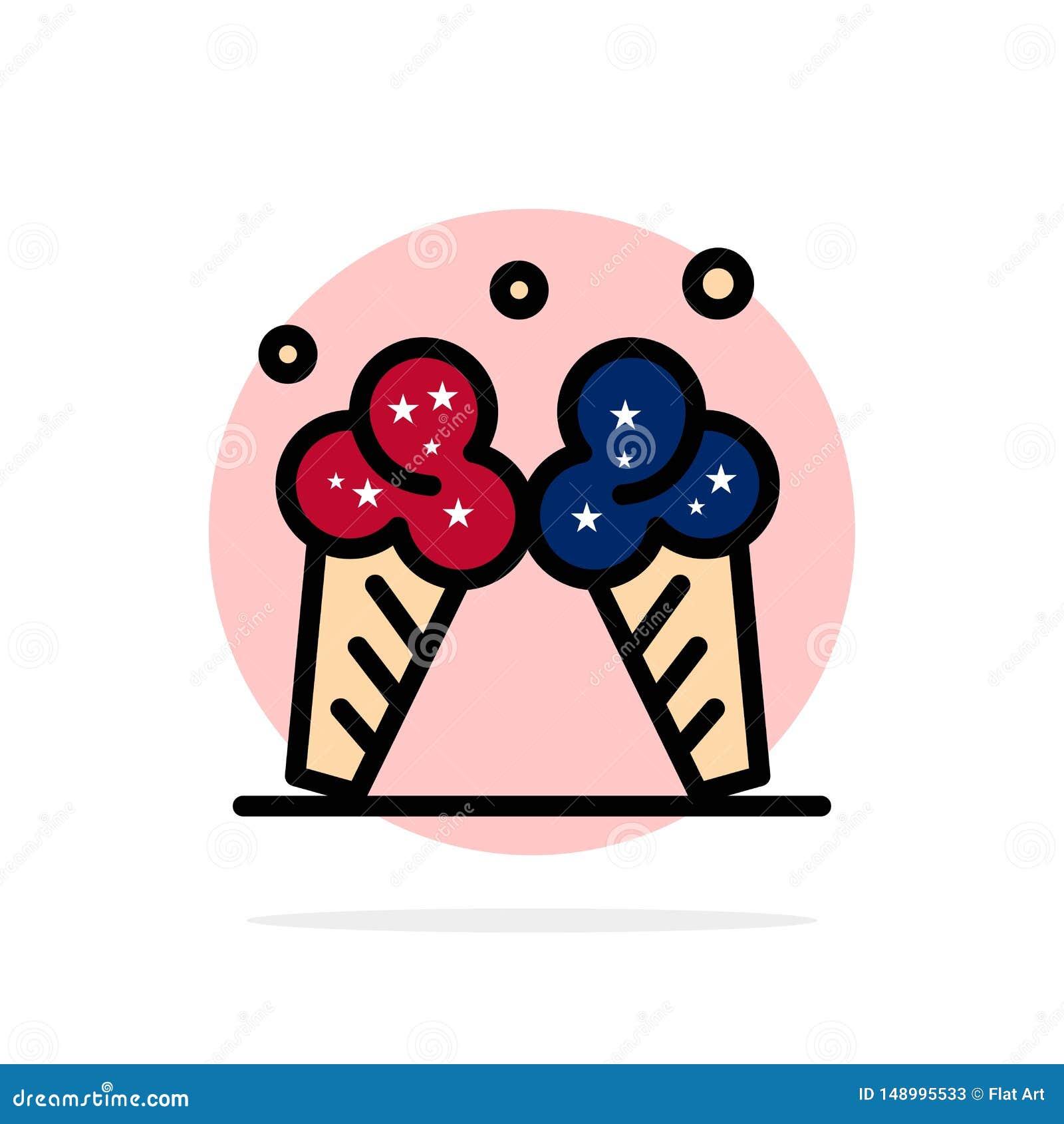 冰淇淋,冰,奶油,美国抽象圈子背景平的颜色象
