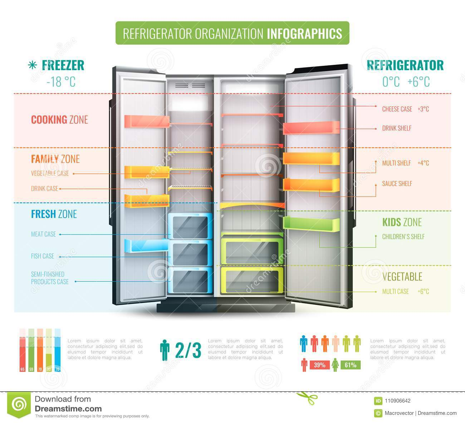 冰箱组织Infographics