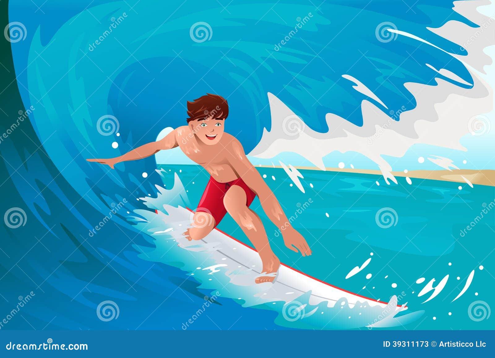 冲浪在海洋的人