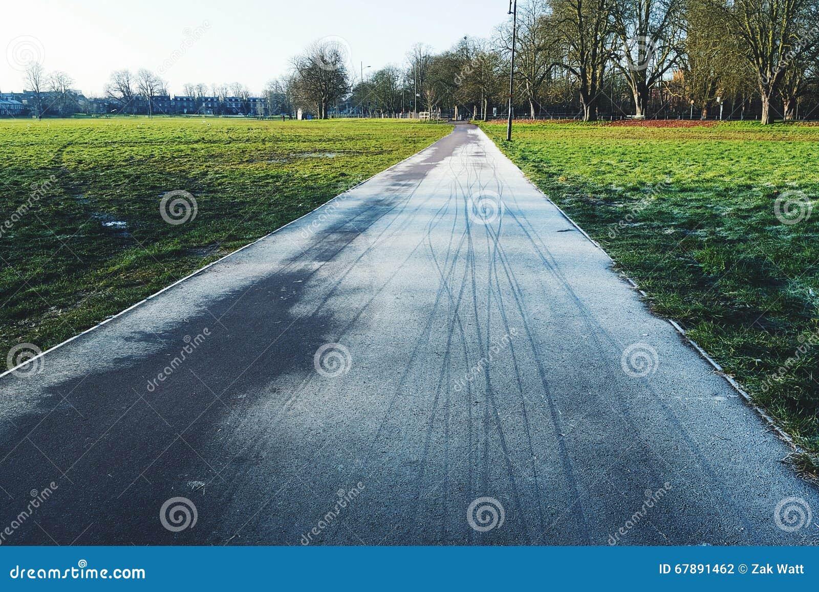 冷淡的自行车轨道