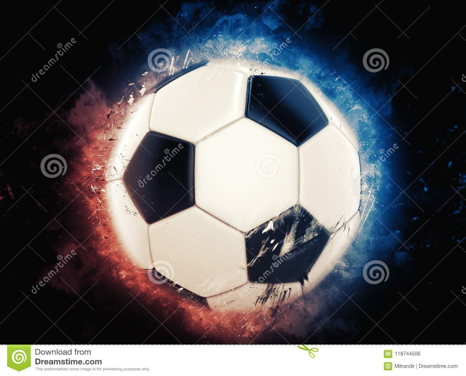 凉快的足球例证