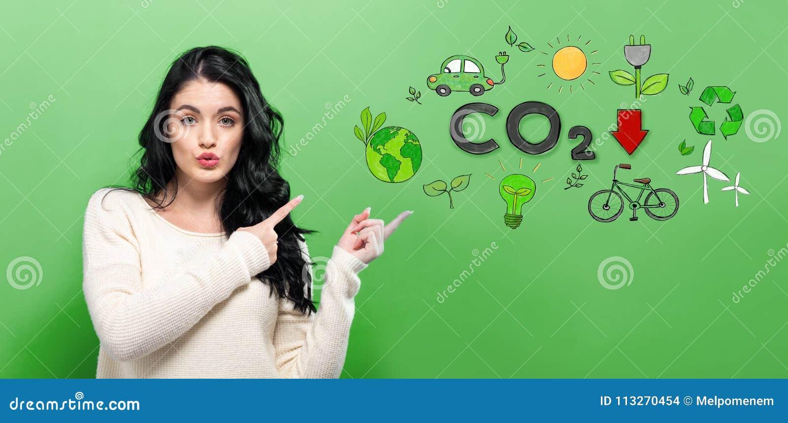 减少与少妇的二氧化碳