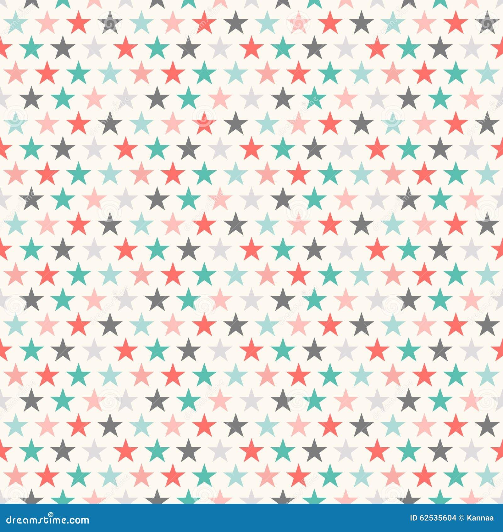 减速火箭的五颜六色的星无缝的样式 例证