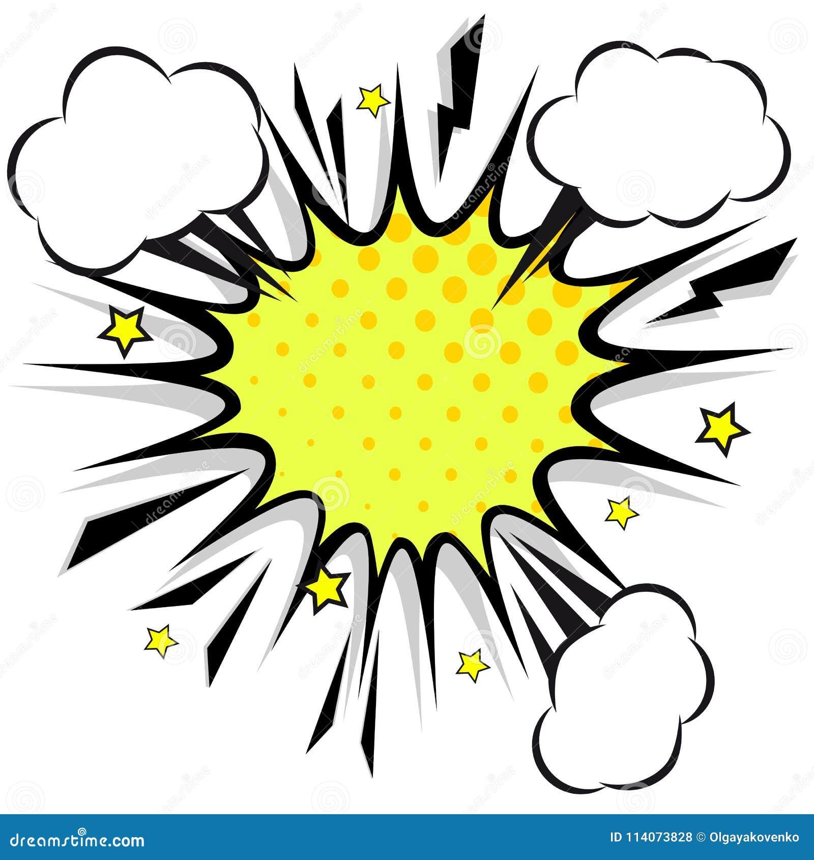 减速火箭的可笑的设计讲话泡影 与云彩的一刹那爆炸