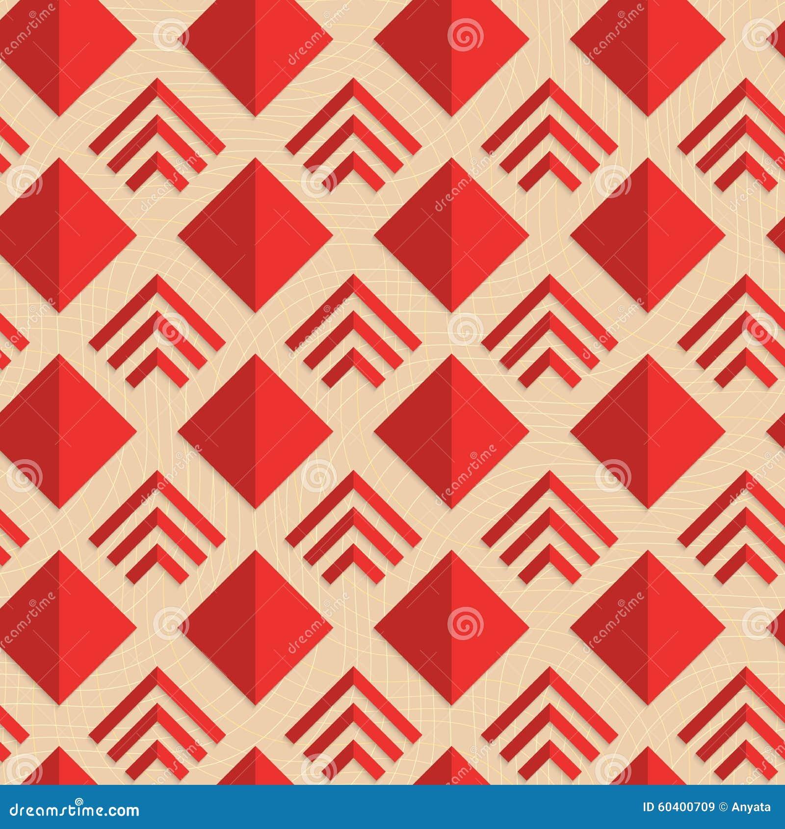 减速火箭的折叠红色金刚石和条纹