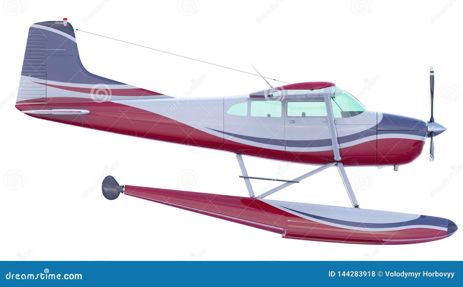 减速火箭的水上飞机例证 3d回报