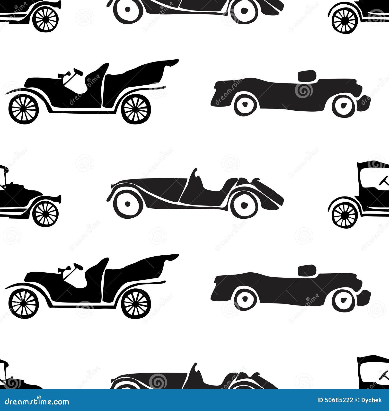 Download 减速火箭的汽车的无缝的样式 向量例证. 插画 包括有 抽象, 葡萄酒, 墙纸, 婴孩, 设计, 装饰, 空白 - 50685222
