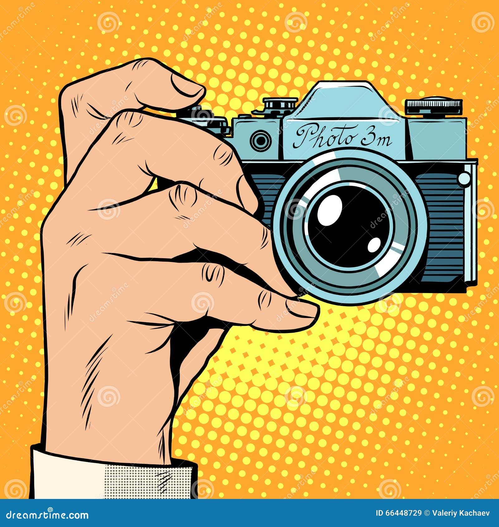 减速火箭的照相机快照selfie流行艺术减速火箭的样式 照片摄影博客