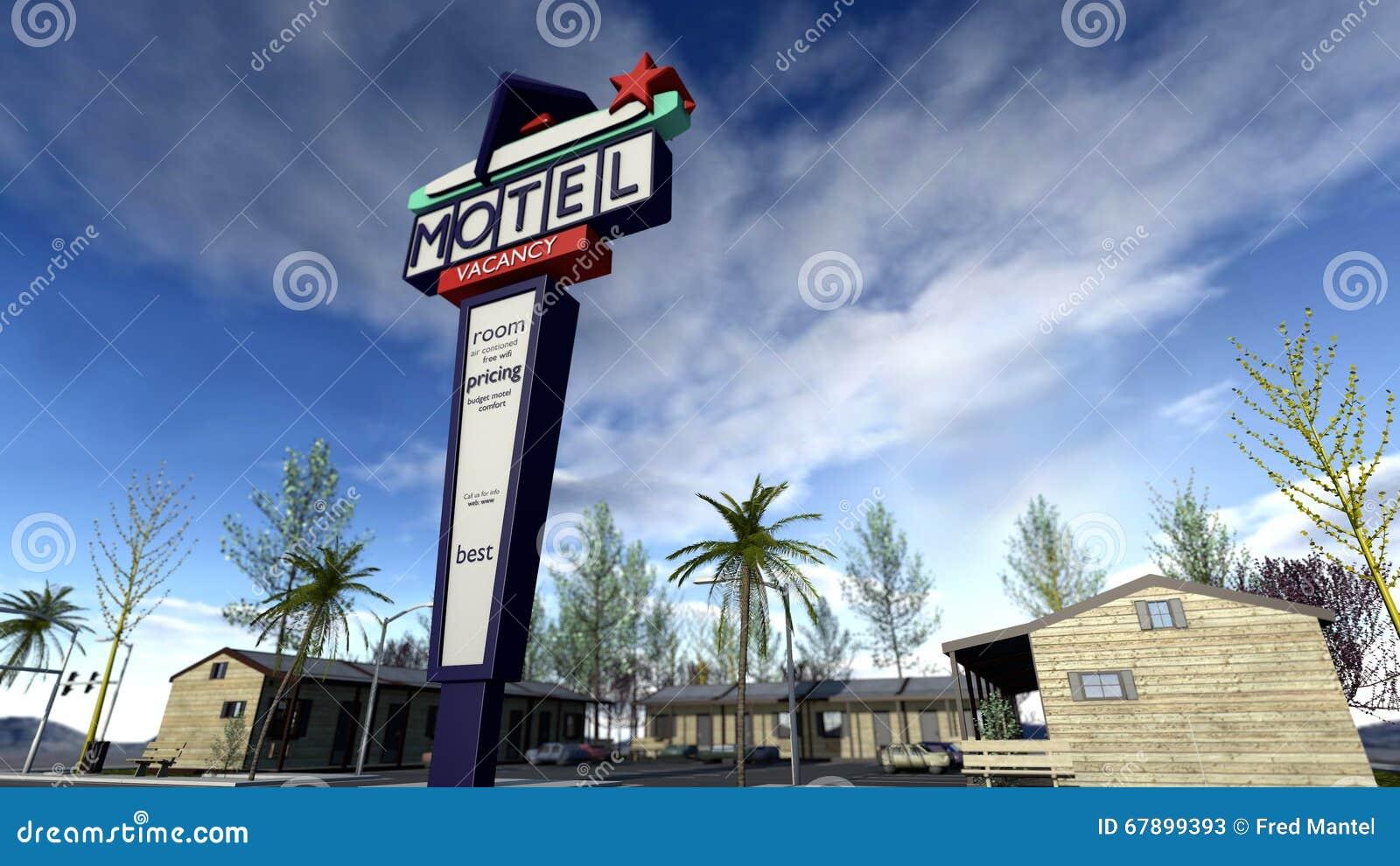 减速火箭的美国驱动在汽车旅馆里