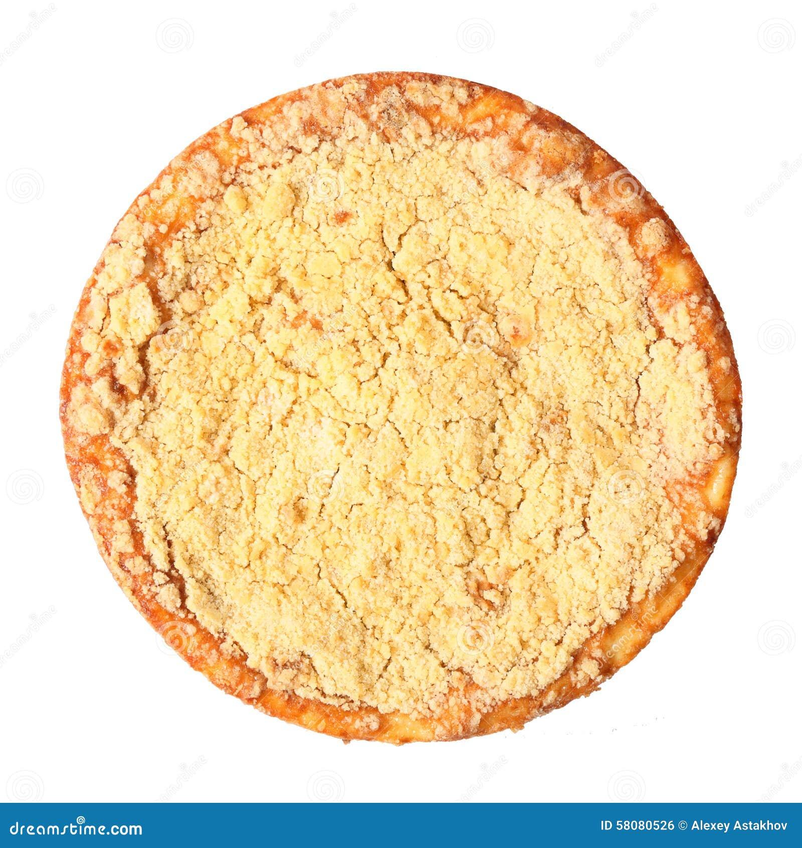 凝乳饼顶视图